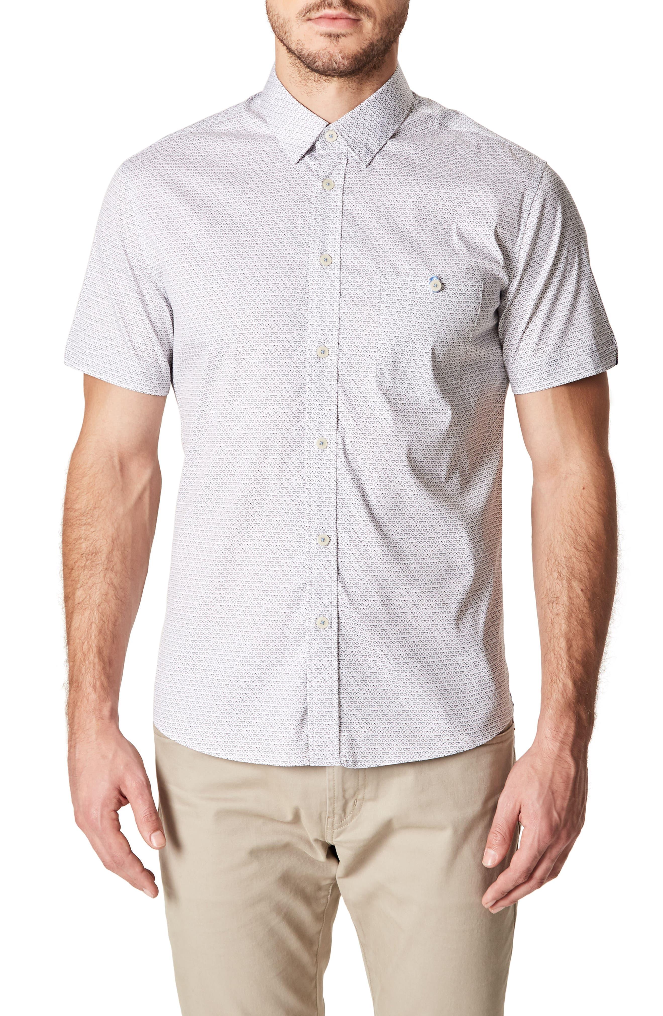 Bright Life Woven Shirt,                         Main,                         color, WHITE