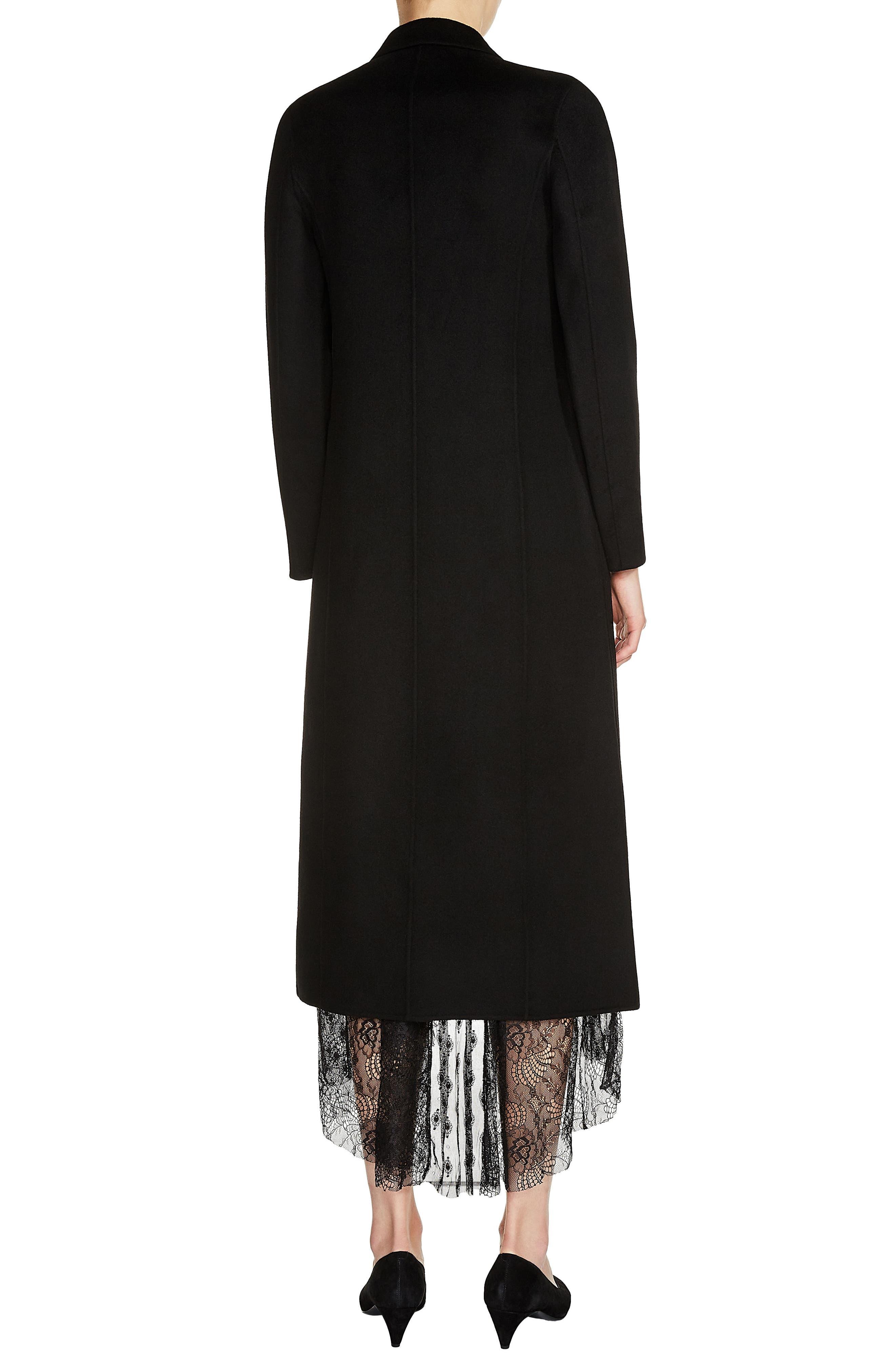 Long Double Face Wool Blend Coat,                             Alternate thumbnail 2, color,                             001