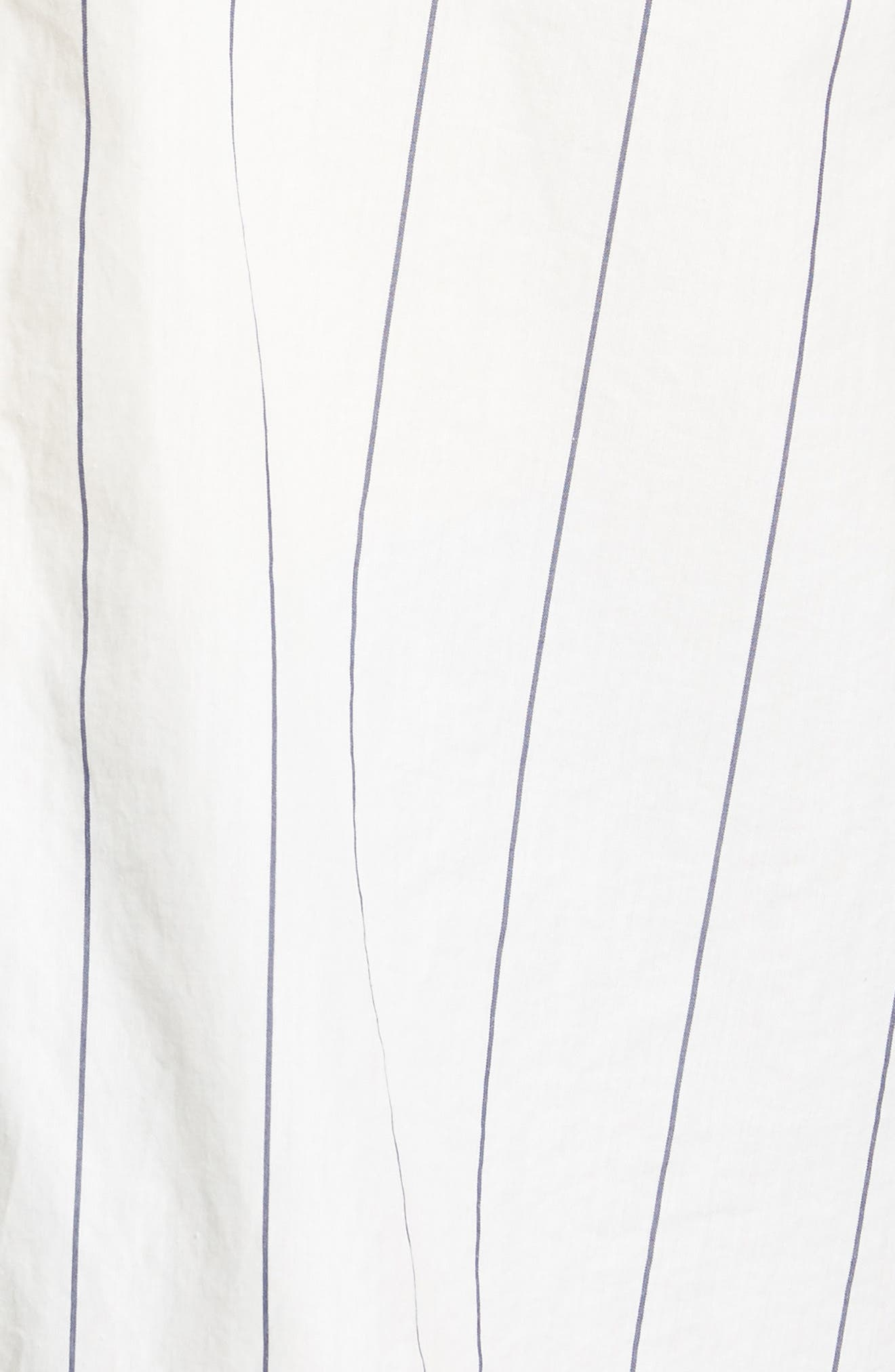 Tie Front Shirt,                             Alternate thumbnail 6, color,                             100