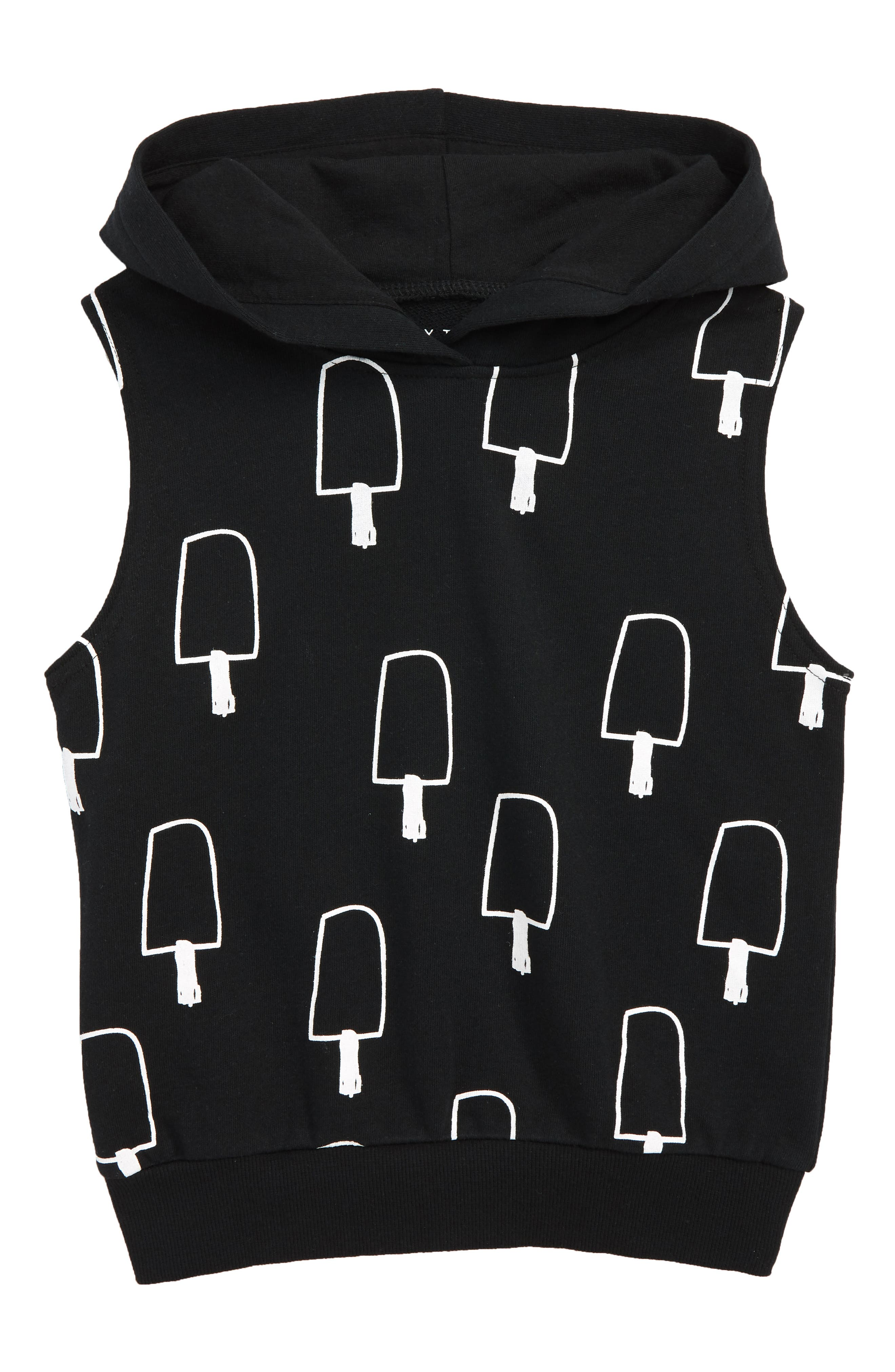 Scream for Ice Cream Hooded Vest,                             Main thumbnail 1, color,