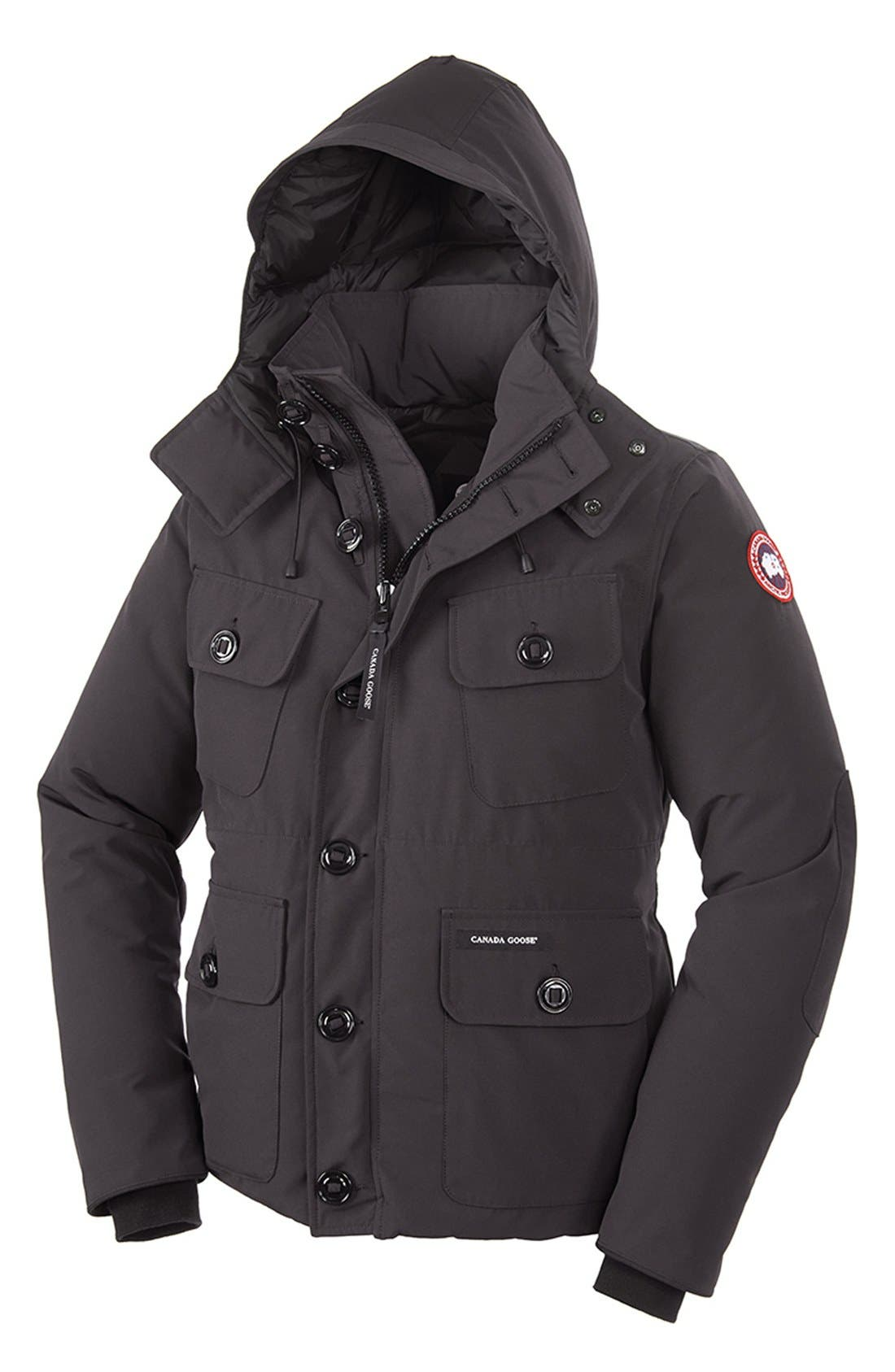 'Selkirk' Slim Fit Water Resistant Down Parka with Detachable Hood,                             Alternate thumbnail 10, color,
