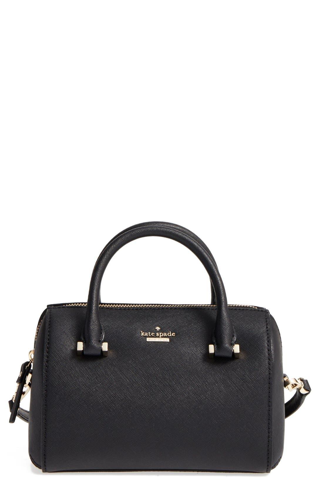 cameron street lane leather satchel, Main, color, 001