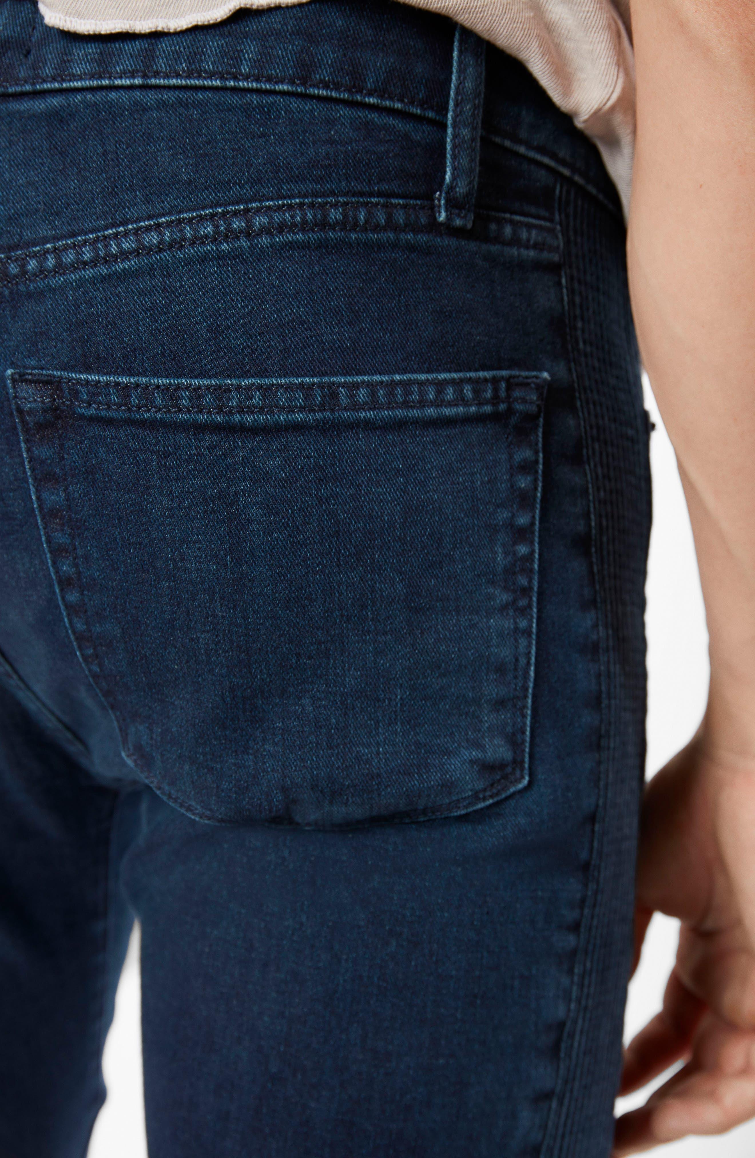 Moto Skinny Fit Jeans,                             Alternate thumbnail 6, color,                             403