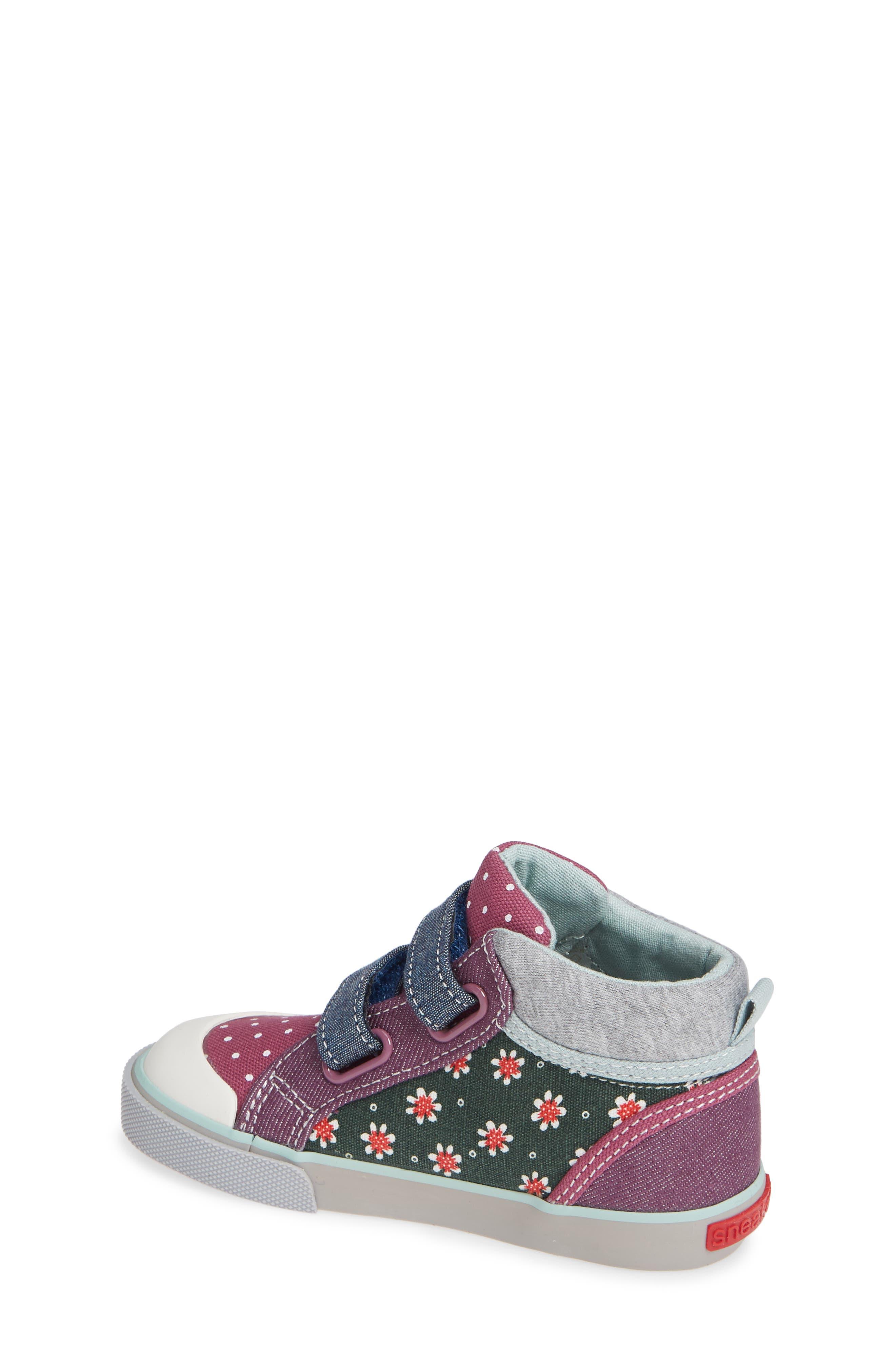 Kya Sneaker,                             Alternate thumbnail 2, color,                             GREEN FLORAL/MULTI