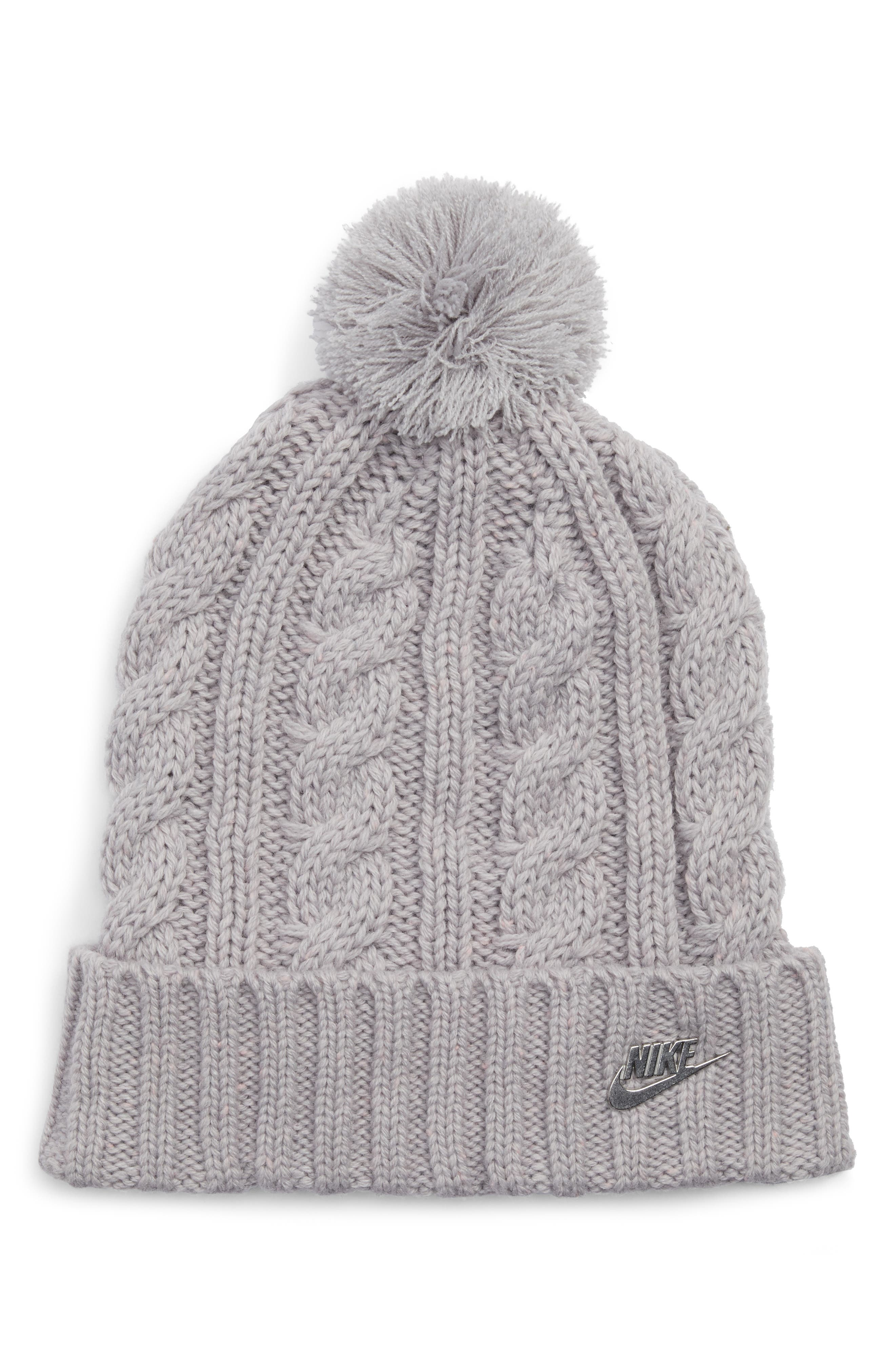 Sportswear Beanie with Removable Pom,                         Main,                         color, 027