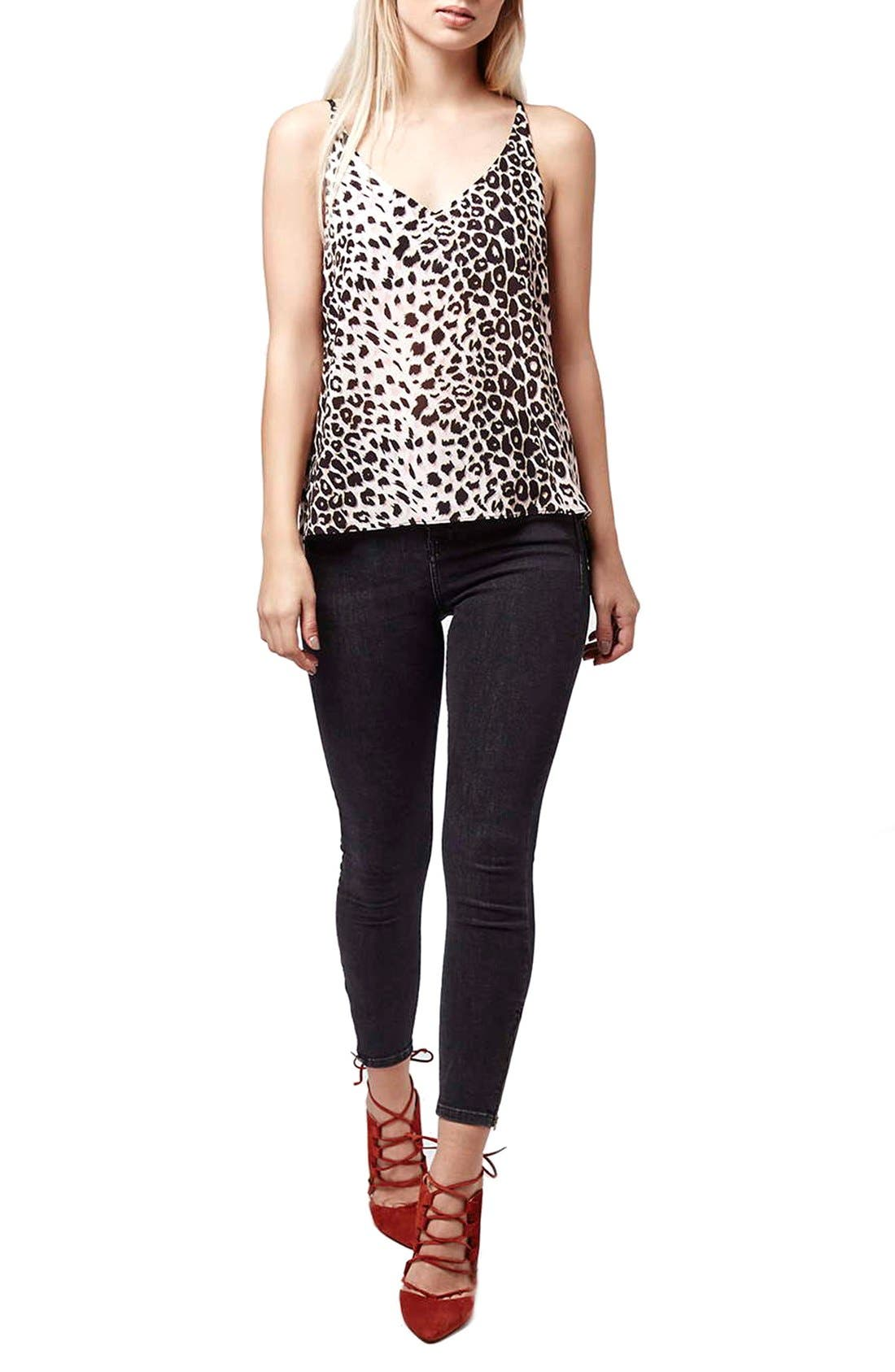 TOPSHOP,                             Leopard Print Camisole,                             Alternate thumbnail 2, color,                             650