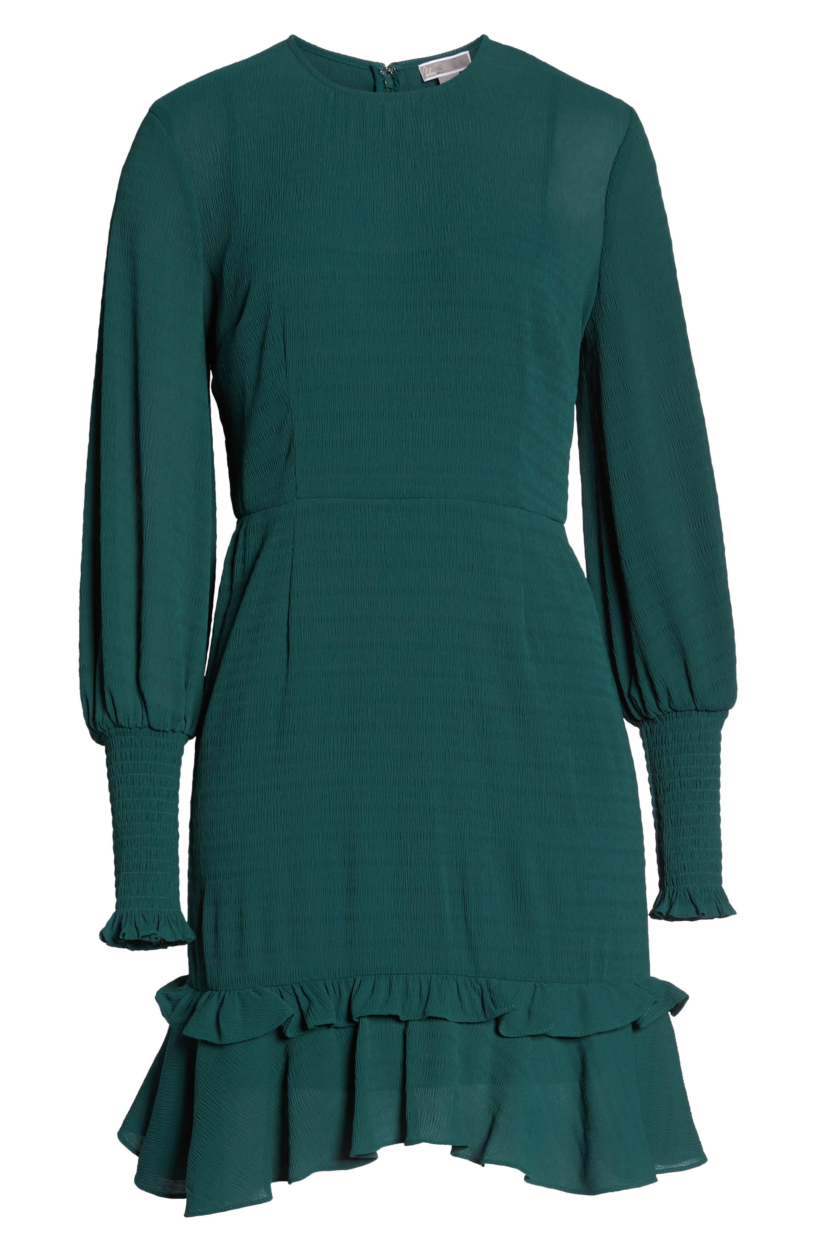 CHELSEA28, Ruffle A-Line Dress, Alternate thumbnail 7, color, 301