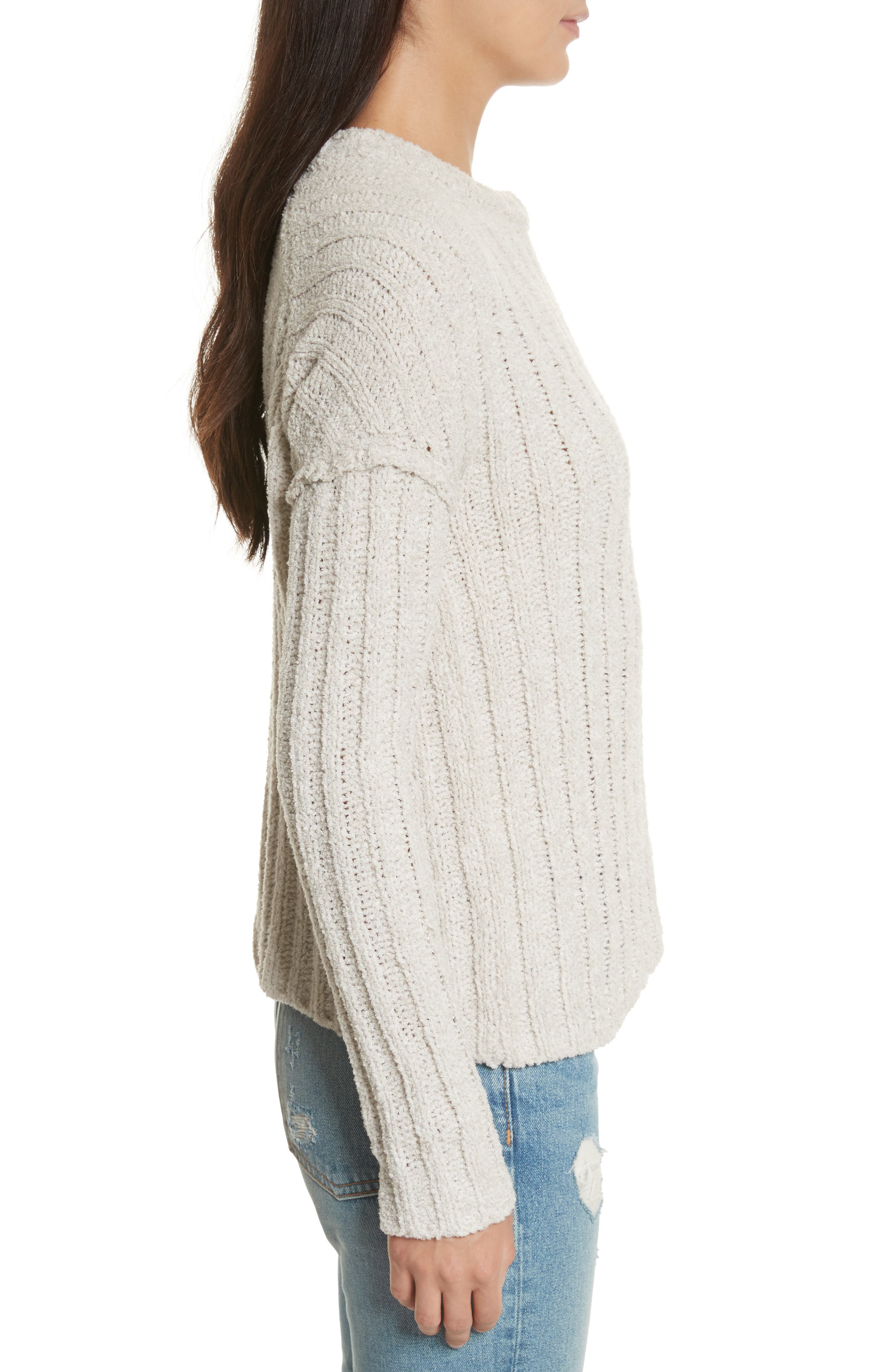 Chenille Crewneck Sweater,                             Alternate thumbnail 6, color,