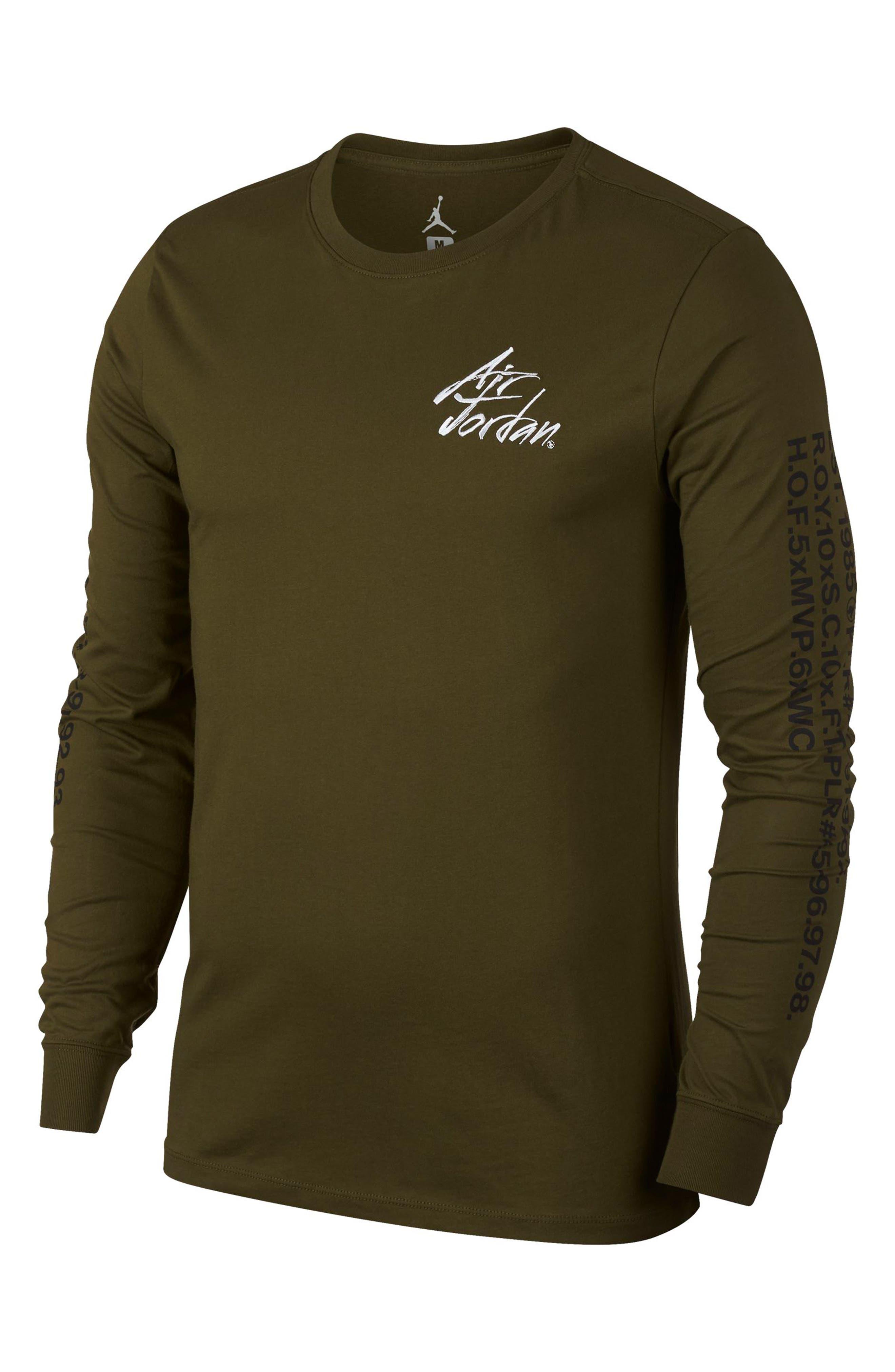 Nike Jordan Jsw Greatest Graphic T-Shirt Green