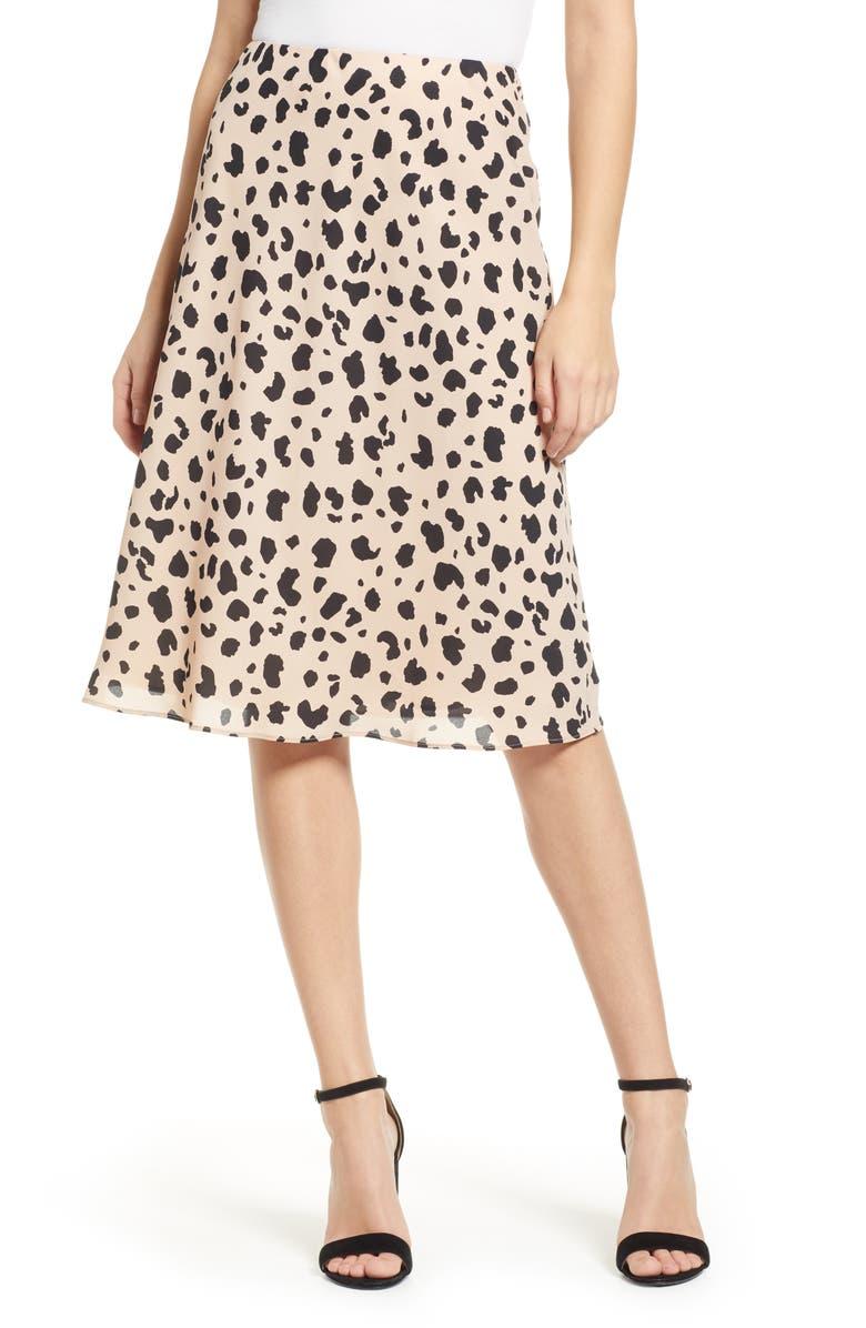 Socialite Leopard Print Midi Skirt  4ed1307e5c2