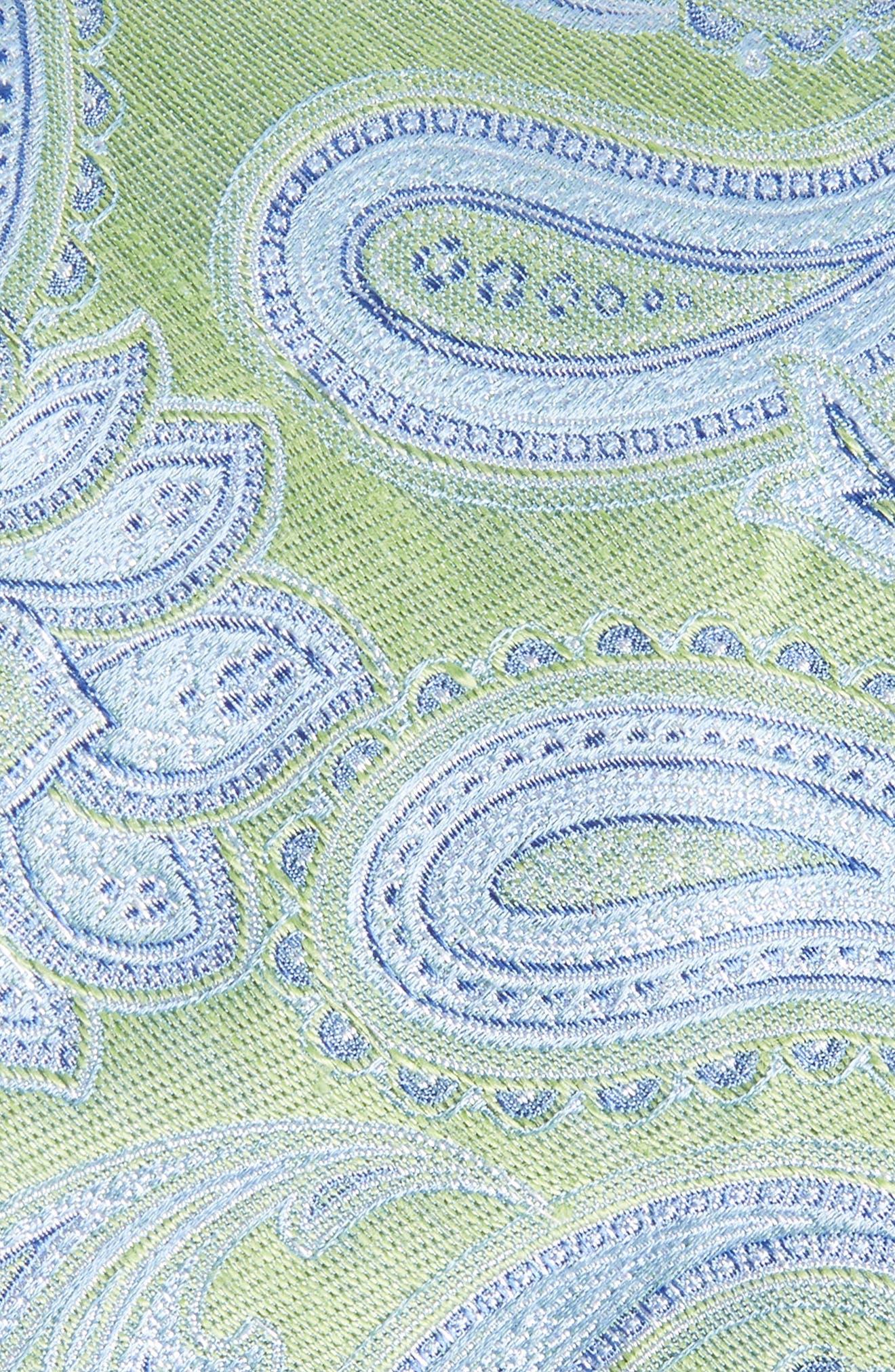 Anrigo Pailsey Silk & Linen Tie,                             Alternate thumbnail 2, color,                             GREEN
