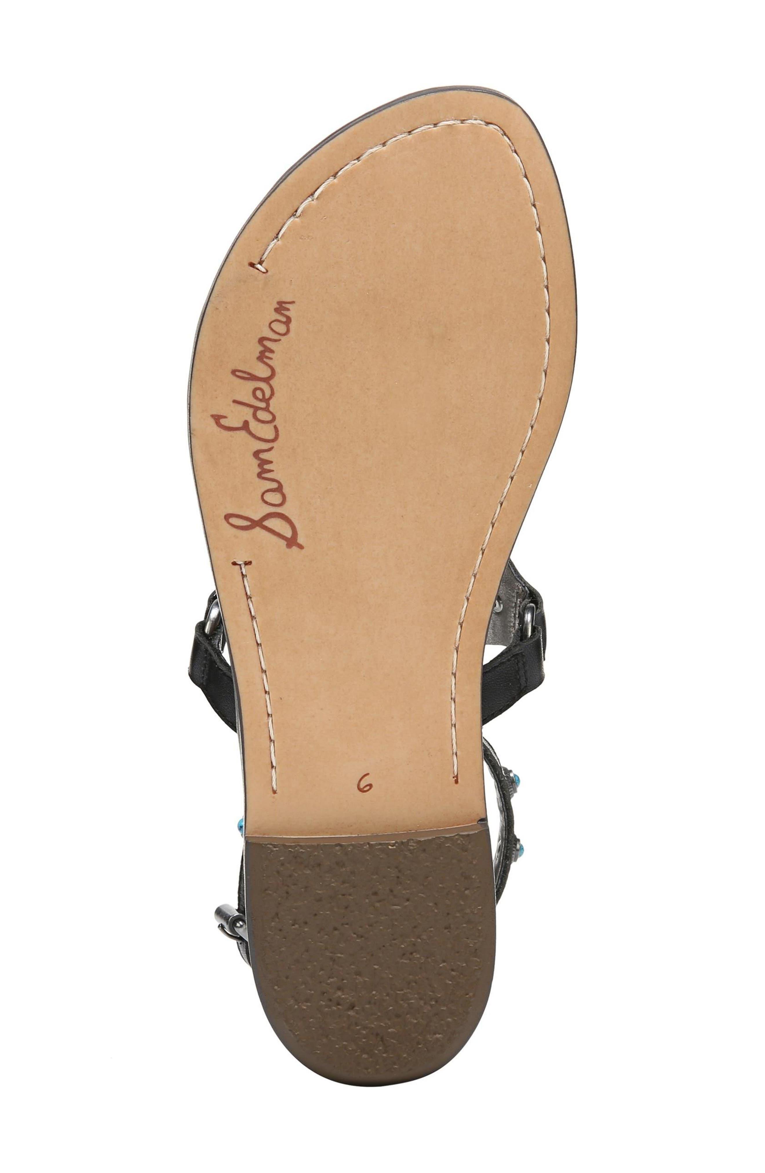 Galena Studded Sandal,                             Alternate thumbnail 6, color,                             001