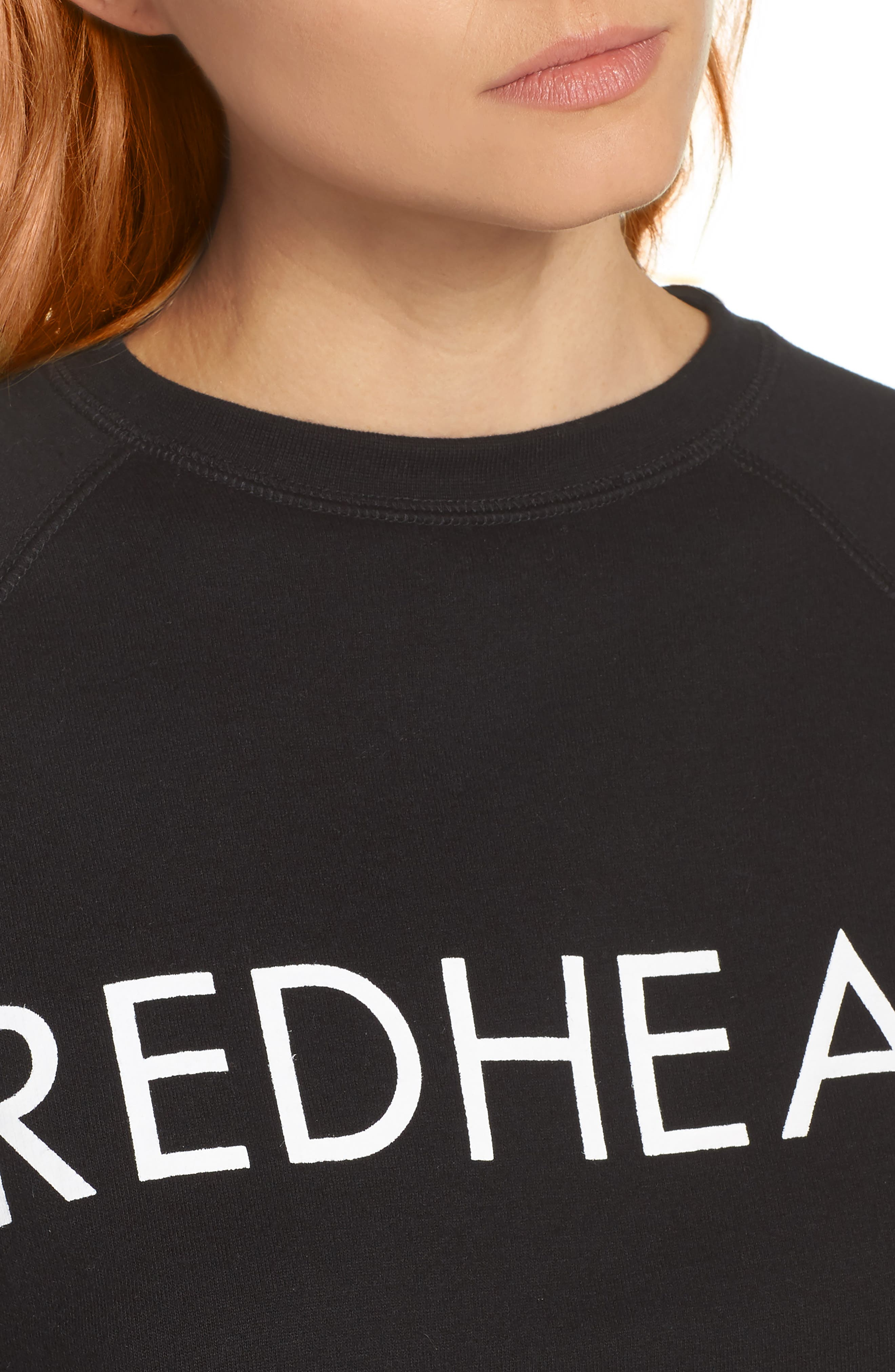 Redhead Raw Hem Sweatshirt,                             Alternate thumbnail 4, color,
