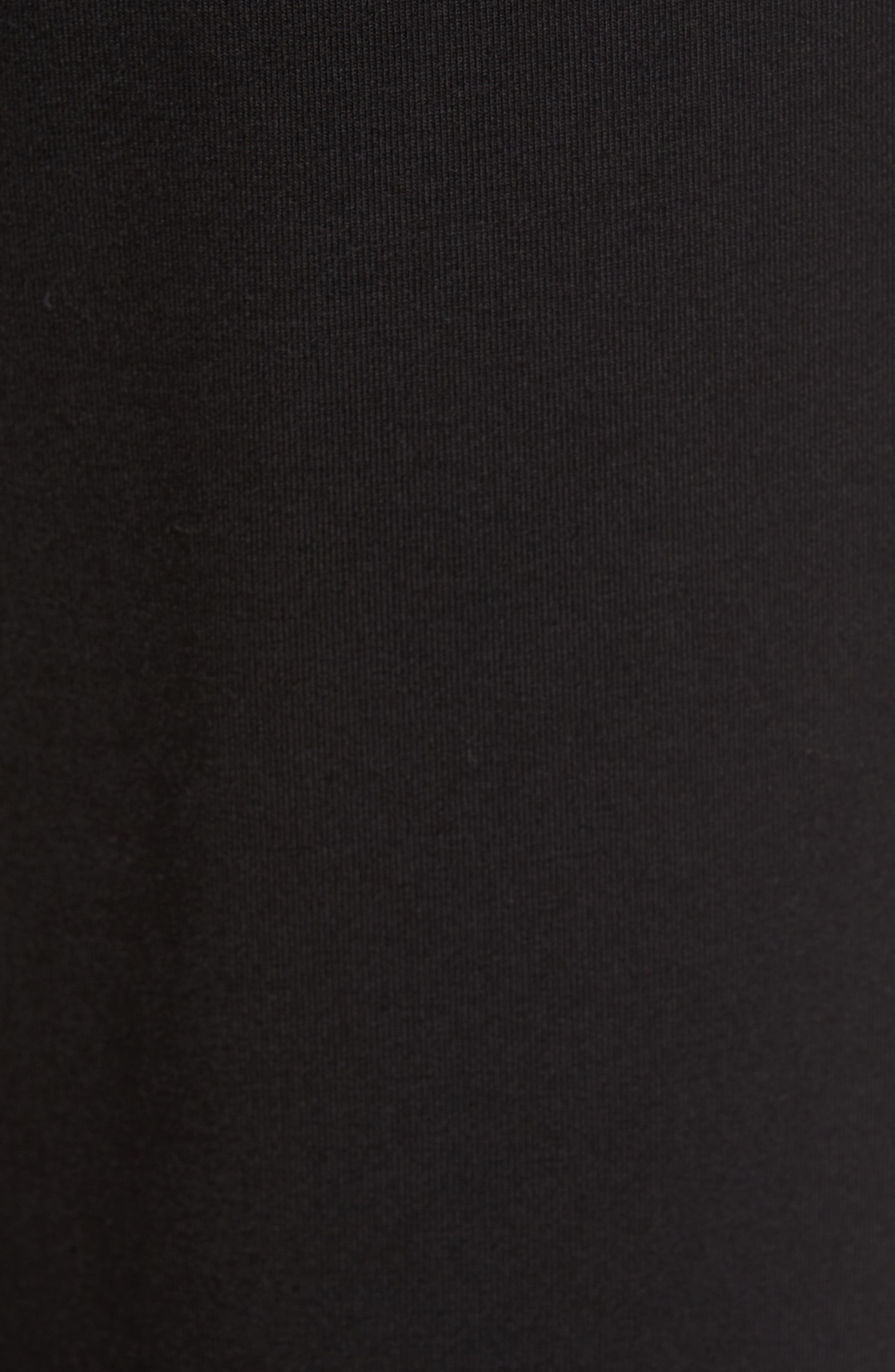 Grommet Detail Skinny Knit Pants,                             Alternate thumbnail 5, color,                             001