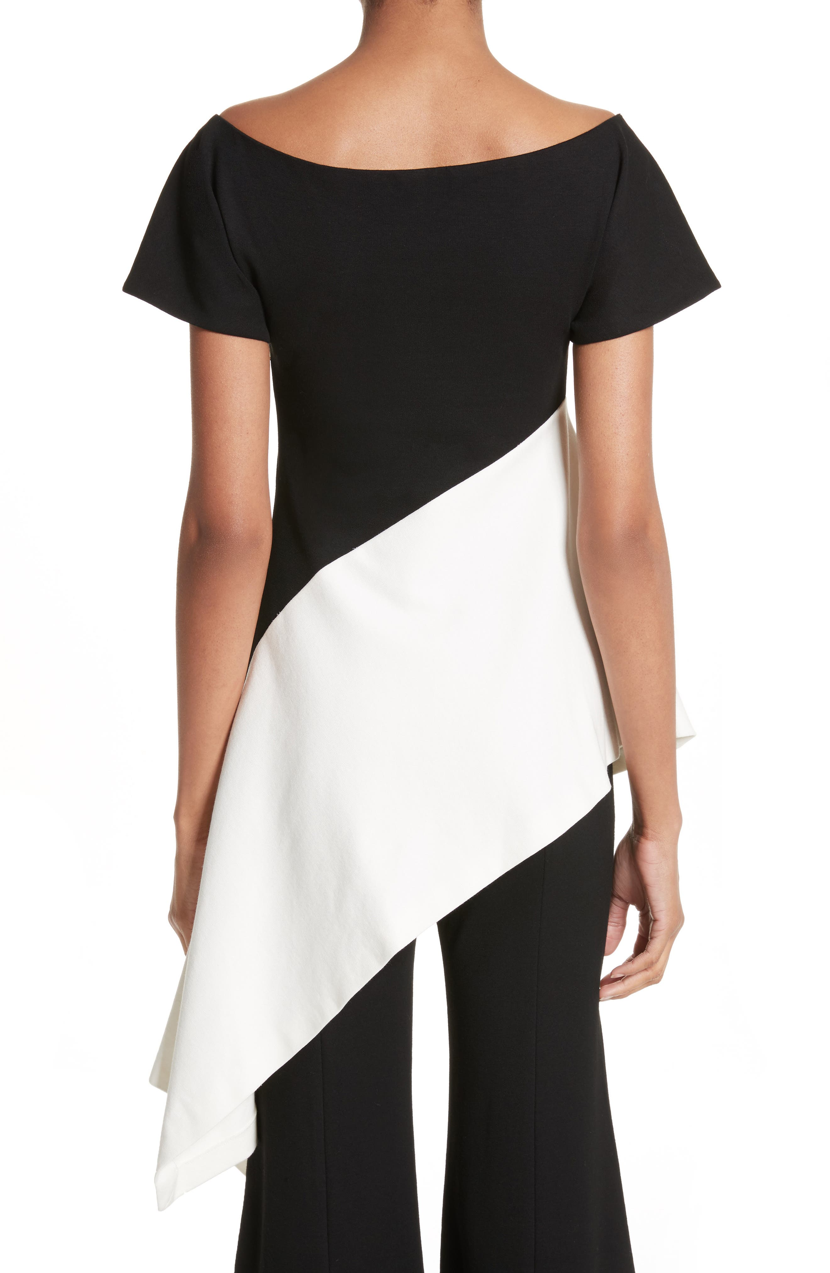 Asymmetrical Jersey Top,                             Alternate thumbnail 2, color,                             002