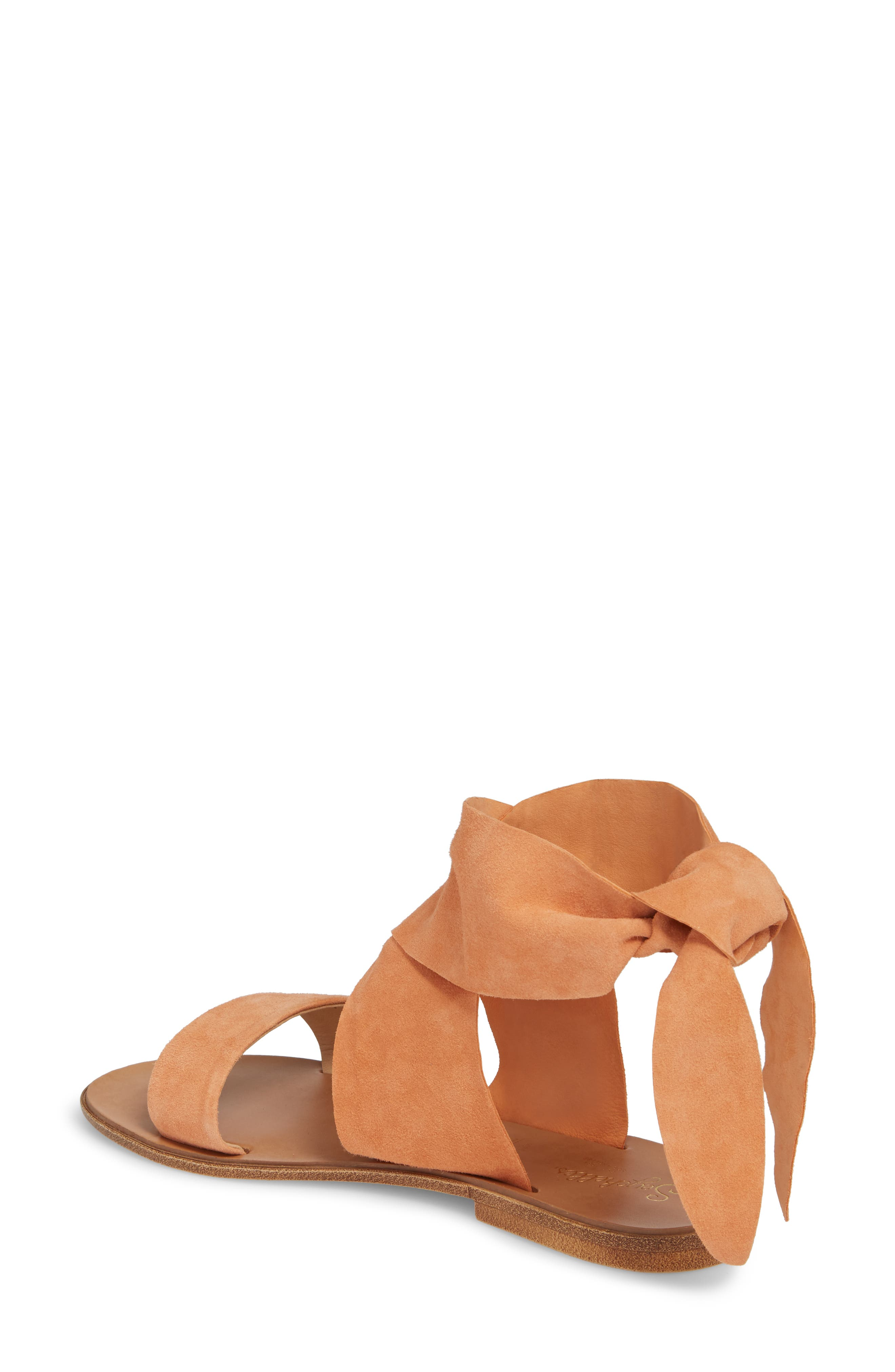 Cruisin Ankle Wrap Sandal,                             Alternate thumbnail 2, color,                             PEACH SUEDE