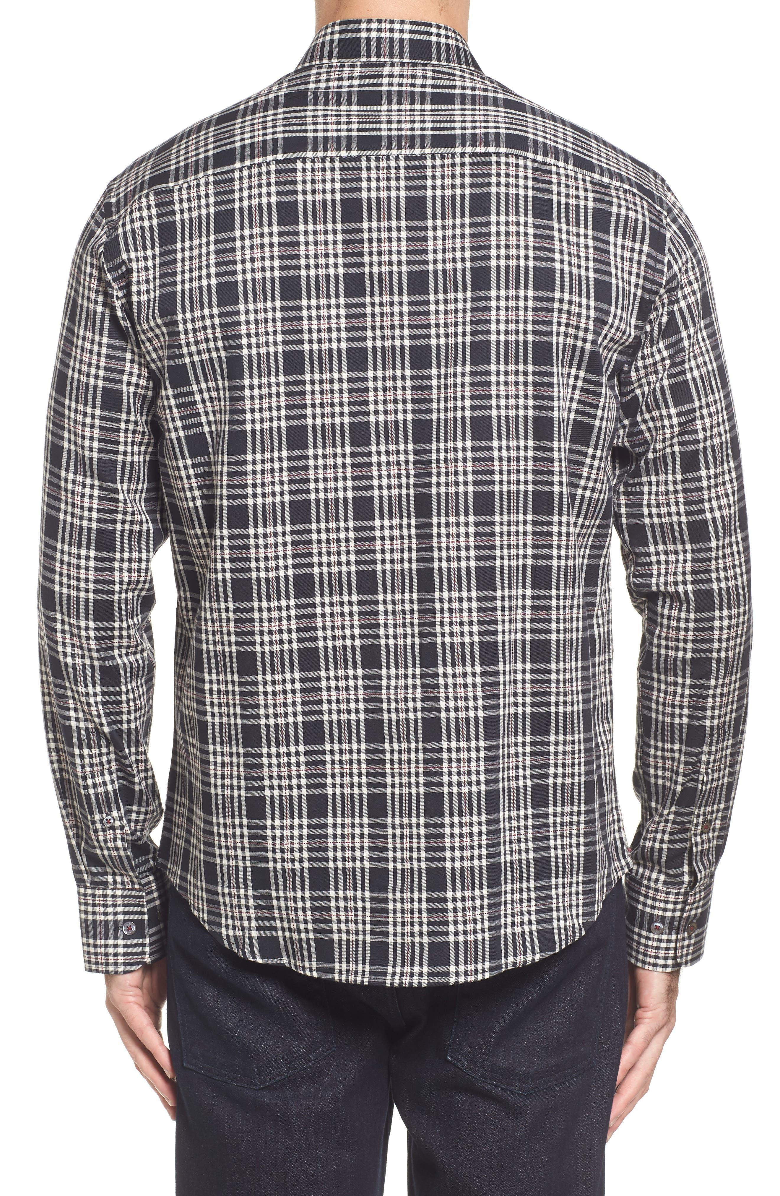 Classic Fit Plaid Sport Shirt,                             Alternate thumbnail 2, color,