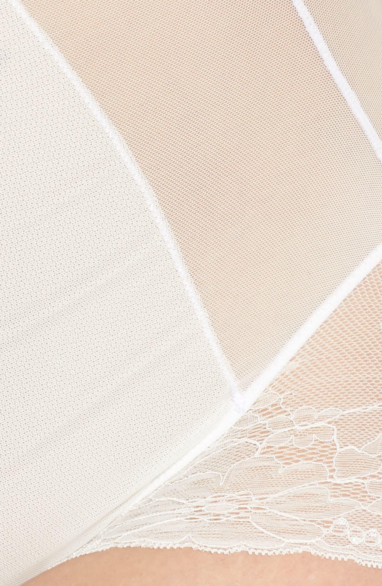 Spotlight On Lace Bodysuit,                             Alternate thumbnail 6, color,                             CLEAN WHITE