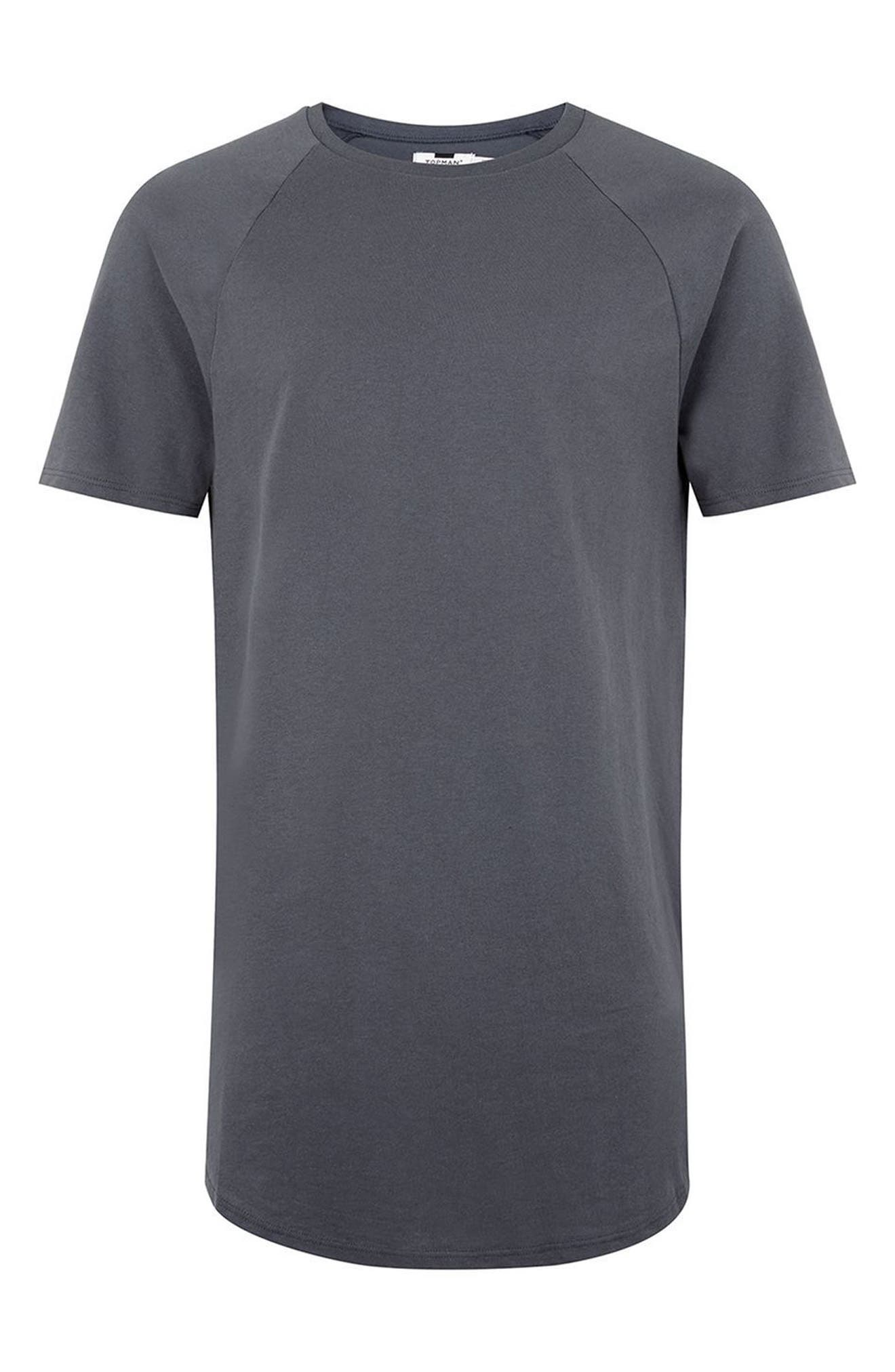 Side Zip Longline T-Shirt,                             Alternate thumbnail 4, color,                             020
