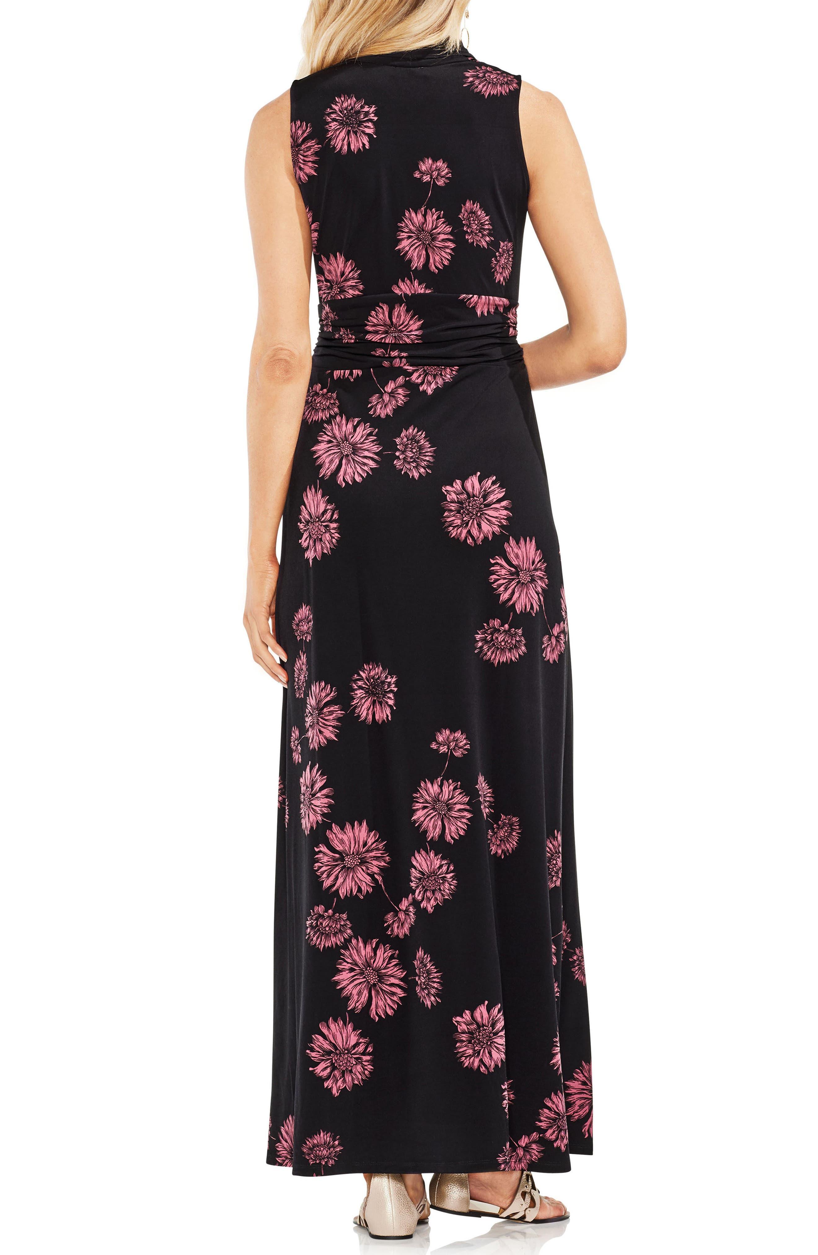Chateau Floral Halter Maxi Dress,                             Alternate thumbnail 3, color,