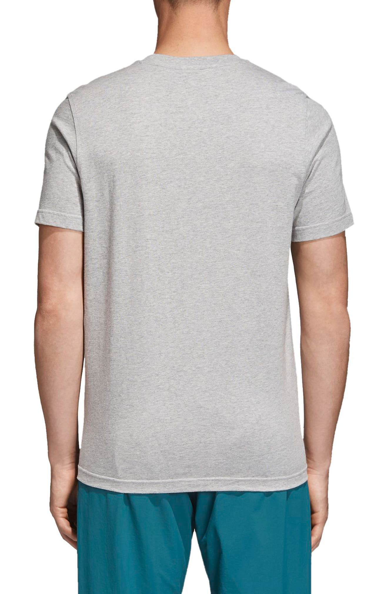Trefoil T-Shirt,                             Alternate thumbnail 2, color,                             MEDIUM GREY HEATHER