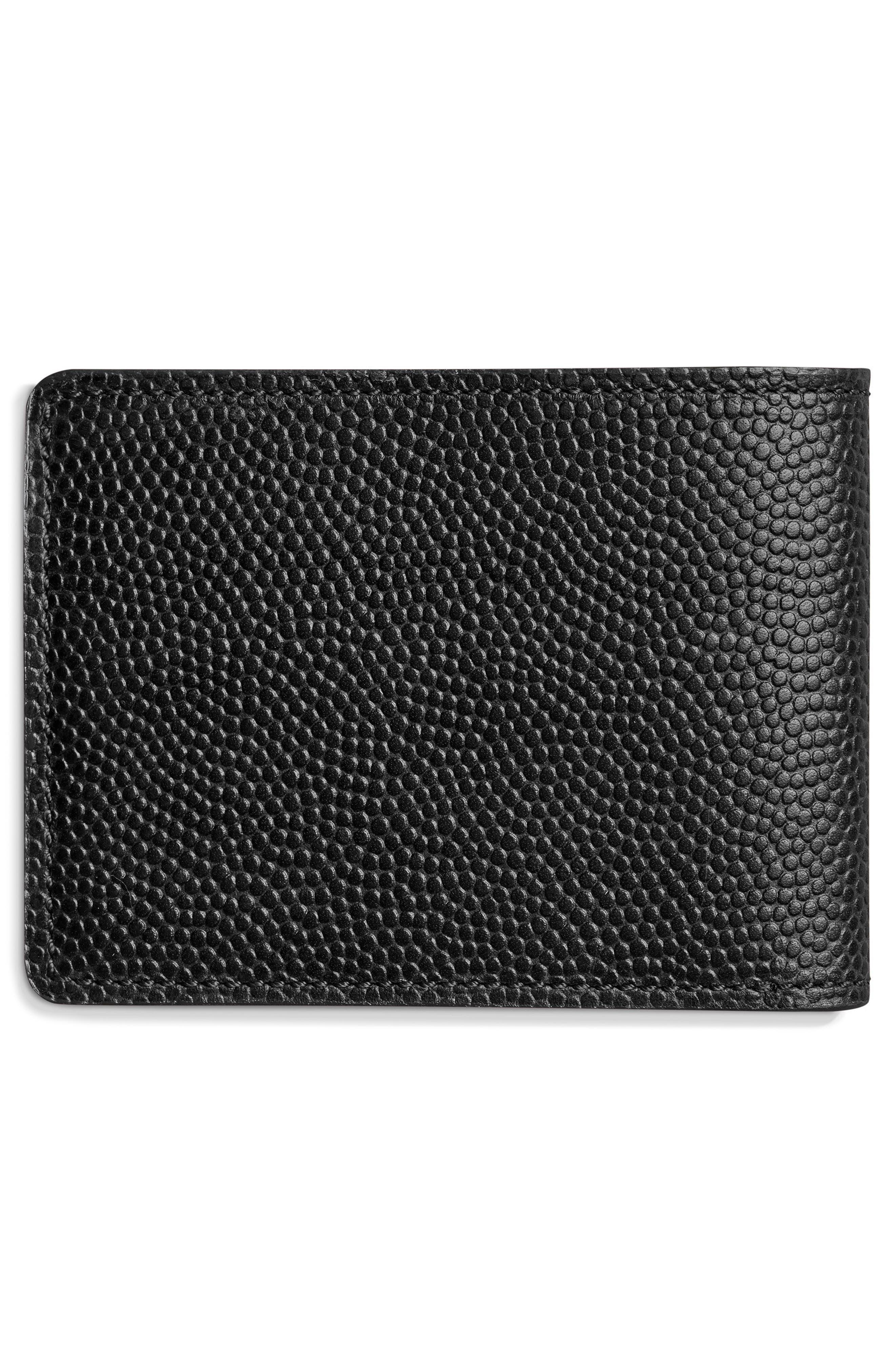 Slim Bifold 2.0 Leather Wallet,                             Alternate thumbnail 2, color,                             BLACK