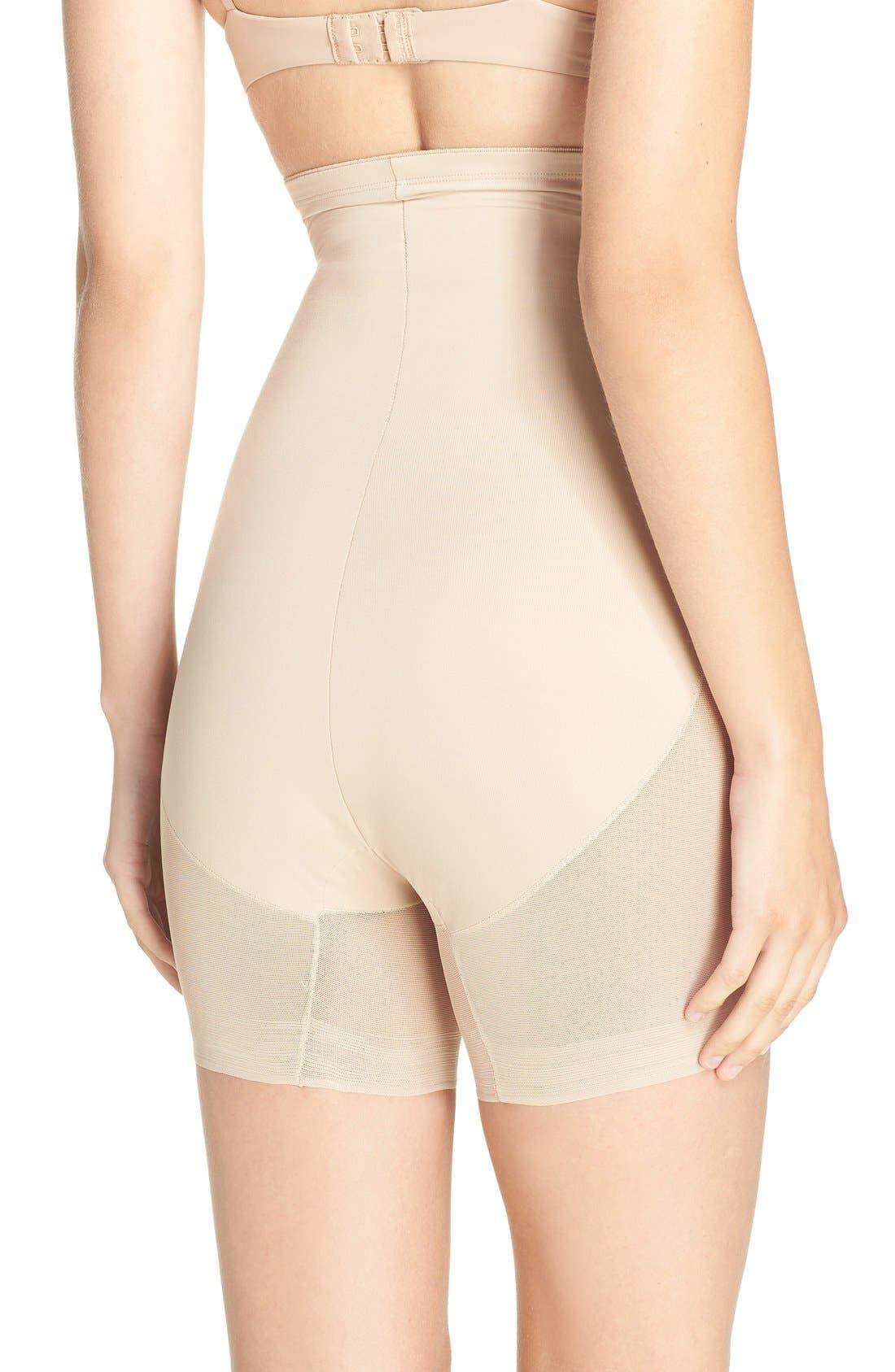 High Waist Shaping Shorts,                             Alternate thumbnail 4, color,