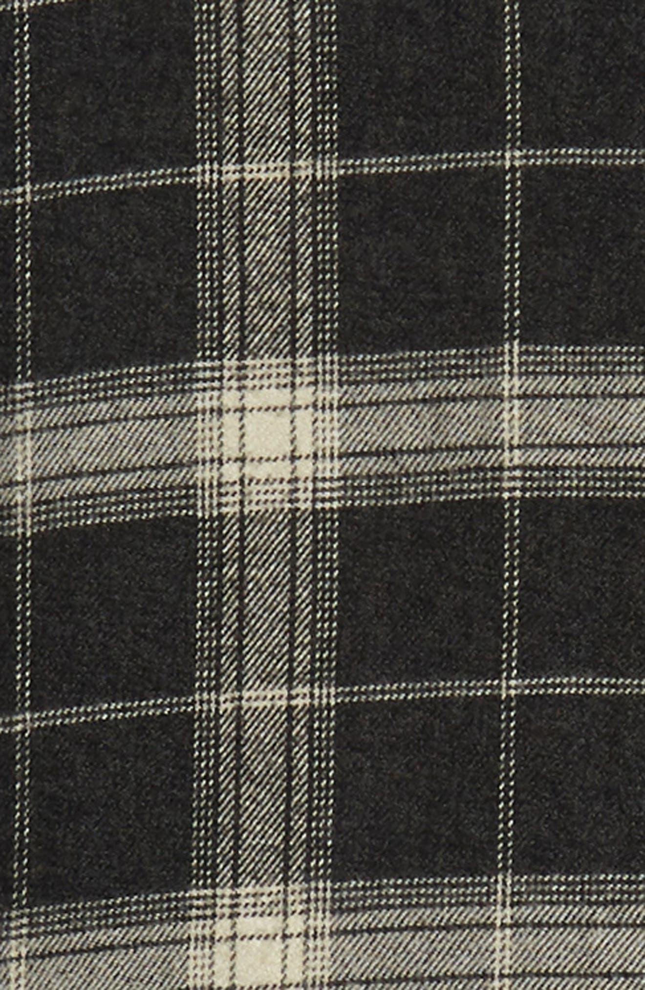 Forrest Regular Fit Plaid Flannel Sport Shirt,                             Alternate thumbnail 6, color,                             COAL/ IVORY