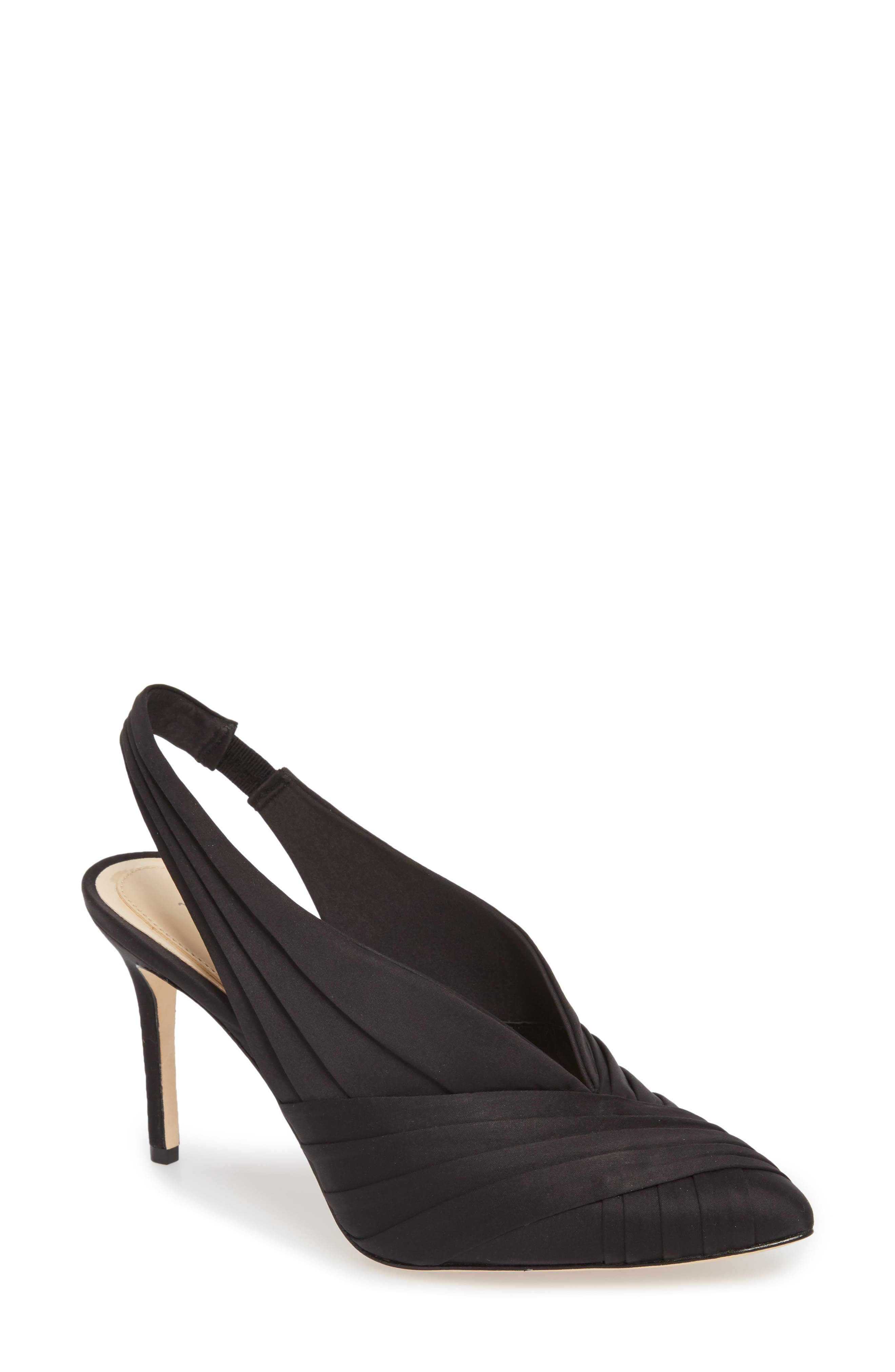 Melkia Pump,                         Main,                         color, BLACK SATIN