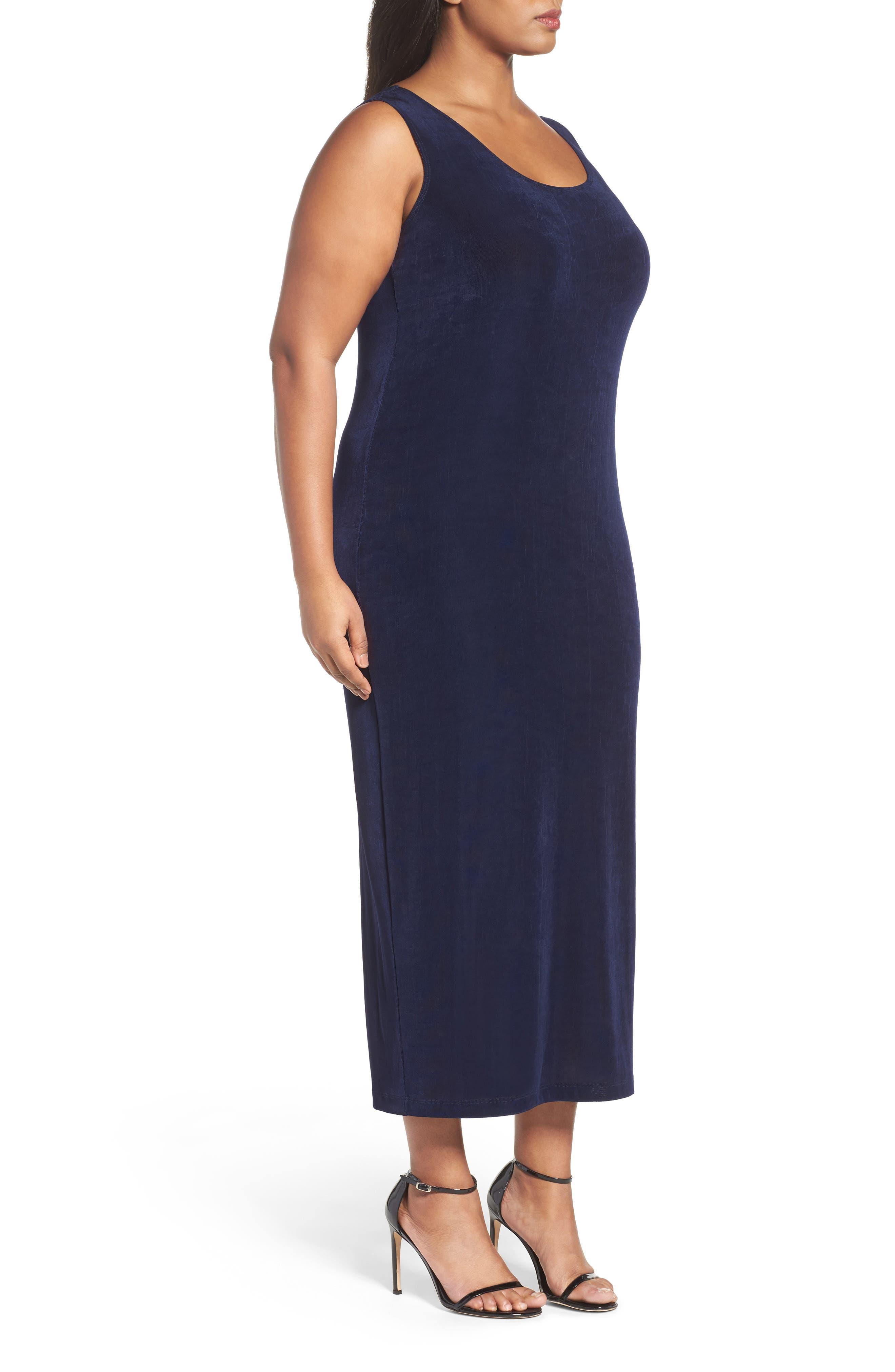 VIKKI VI,                             Sleeveless Maxi Tank Dress,                             Alternate thumbnail 3, color,                             NAVY