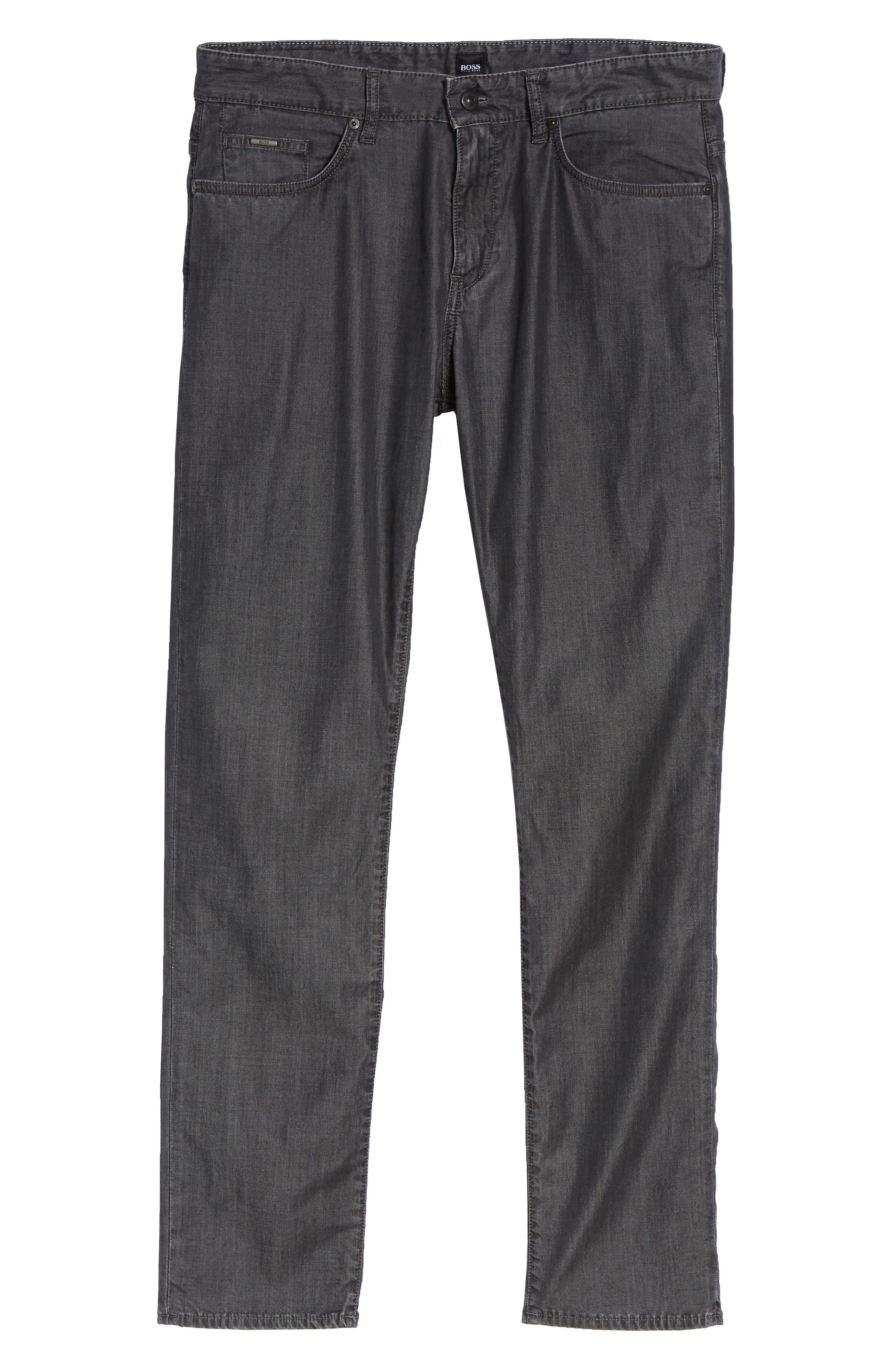 BOSS,                             Delaware Slim Fit Jeans,                             Alternate thumbnail 6, color,                             020