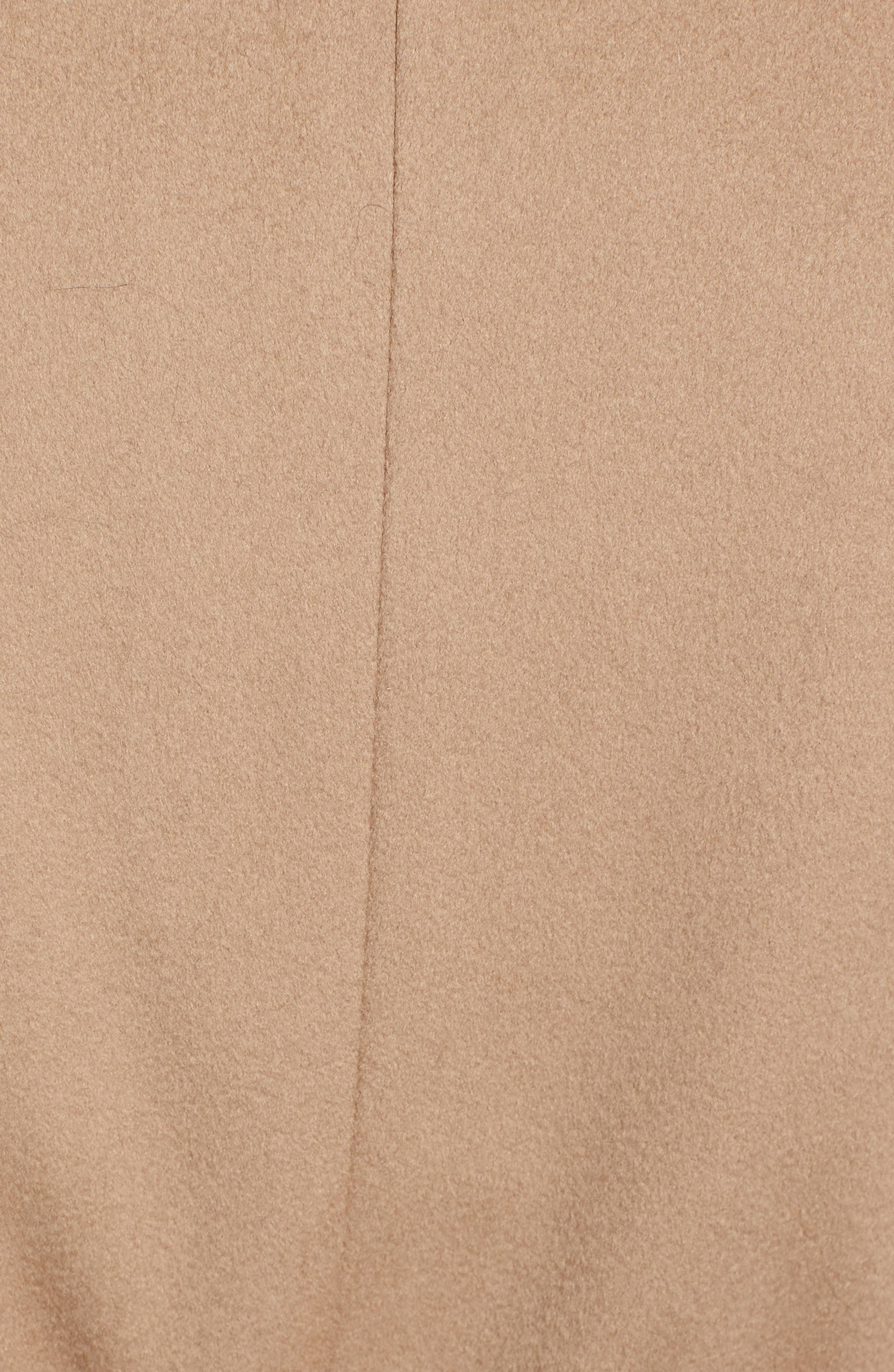FLEURETTE,                             Loro Piana Wool Wrap Coat,                             Alternate thumbnail 7, color,                             CAMEL
