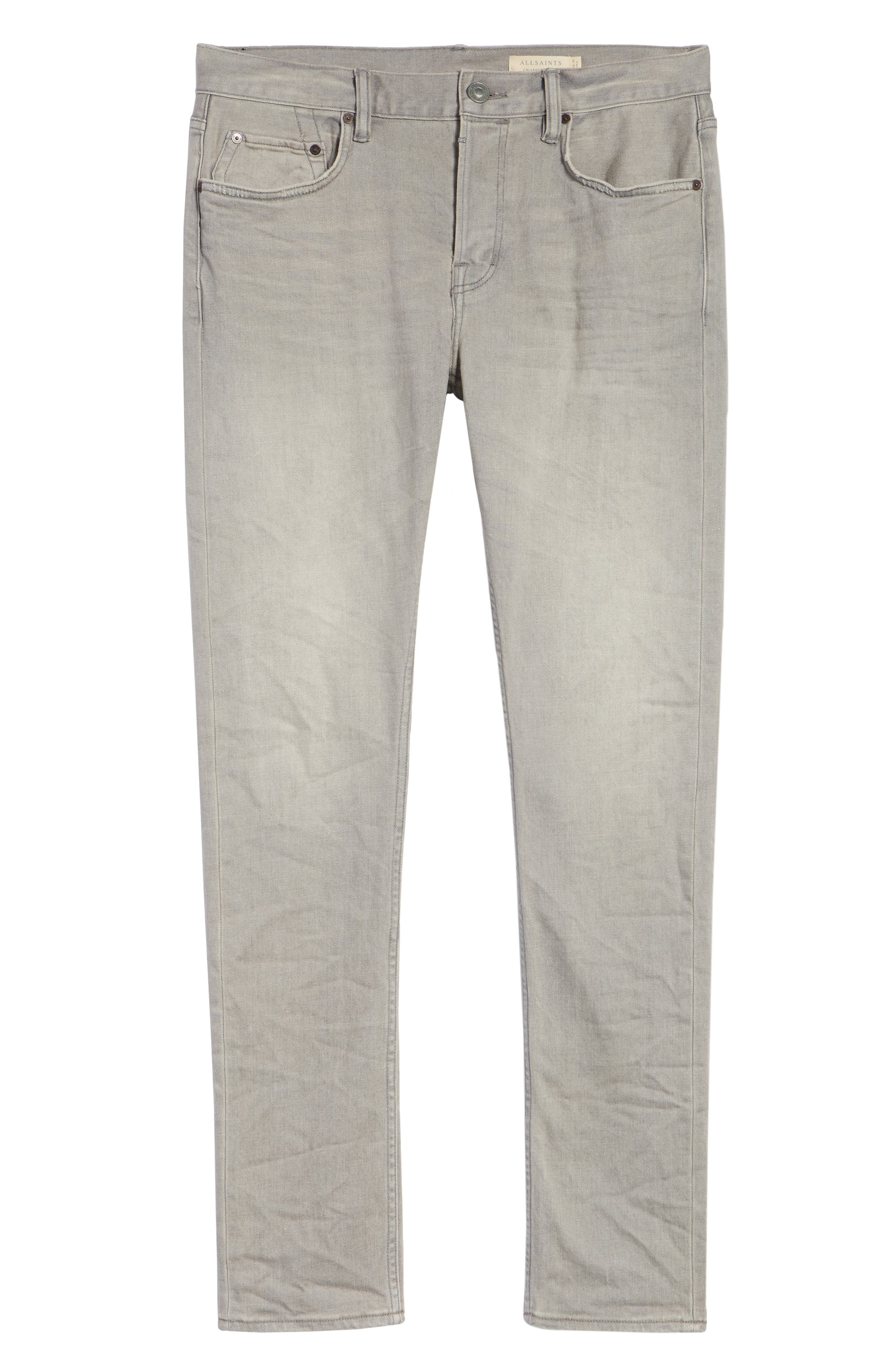 Raveline Cigarette Skinny Fit Jeans,                             Alternate thumbnail 6, color,                             GREY