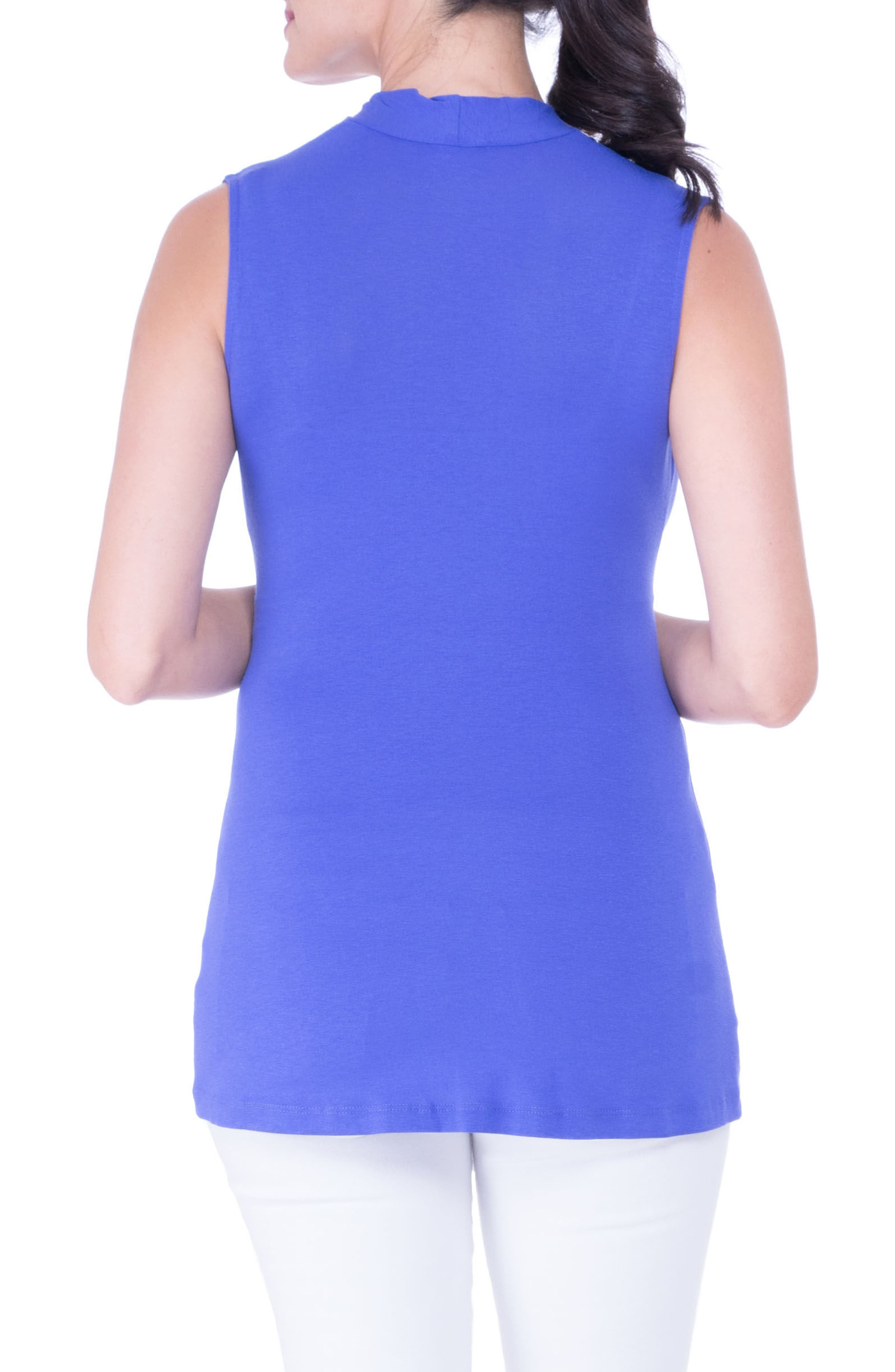 Knot Maternity Top,                             Alternate thumbnail 2, color,                             PERIWINKLE
