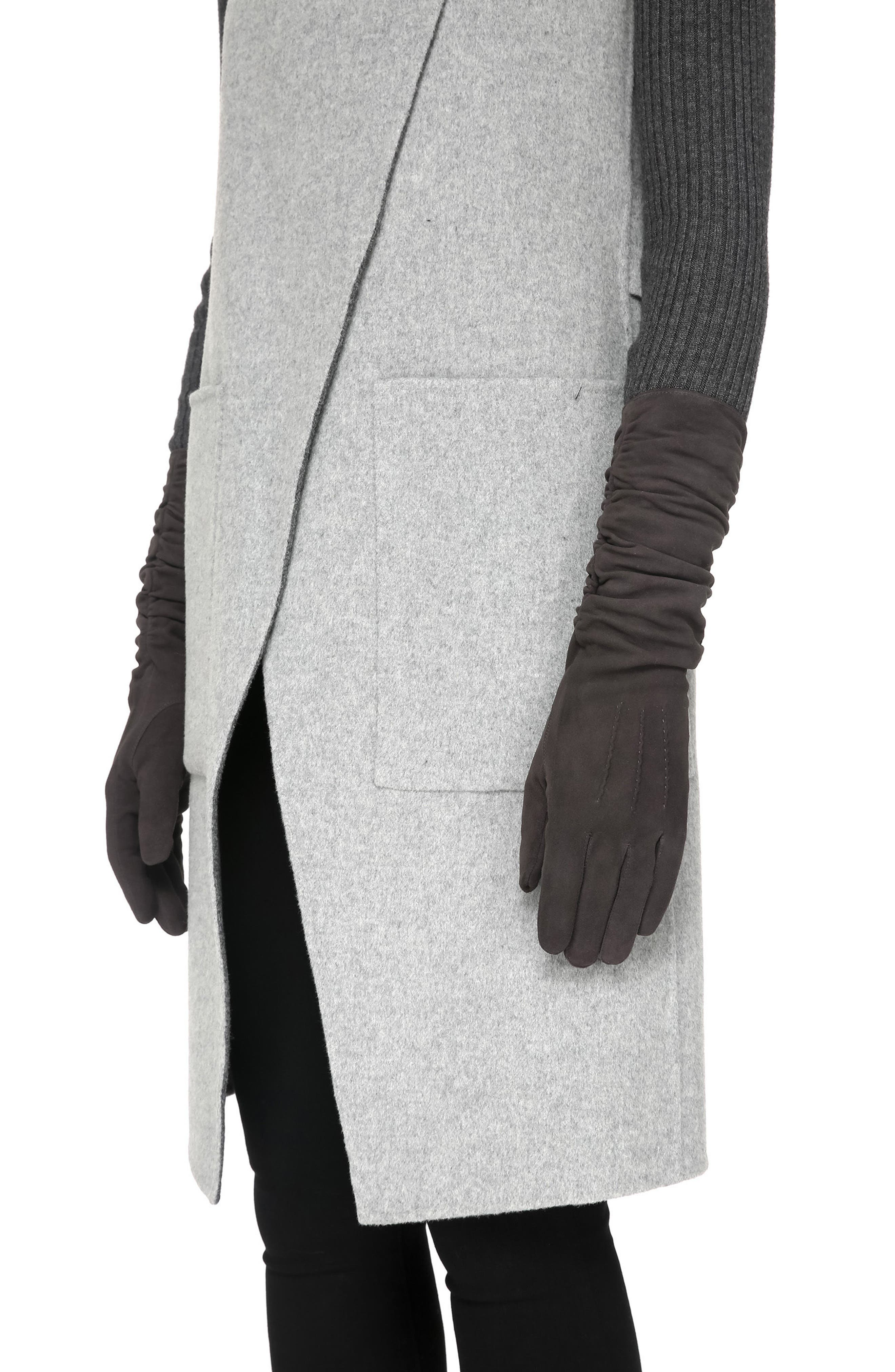 SOIA & KYO,                             Long Suede Gloves,                             Main thumbnail 1, color,                             020
