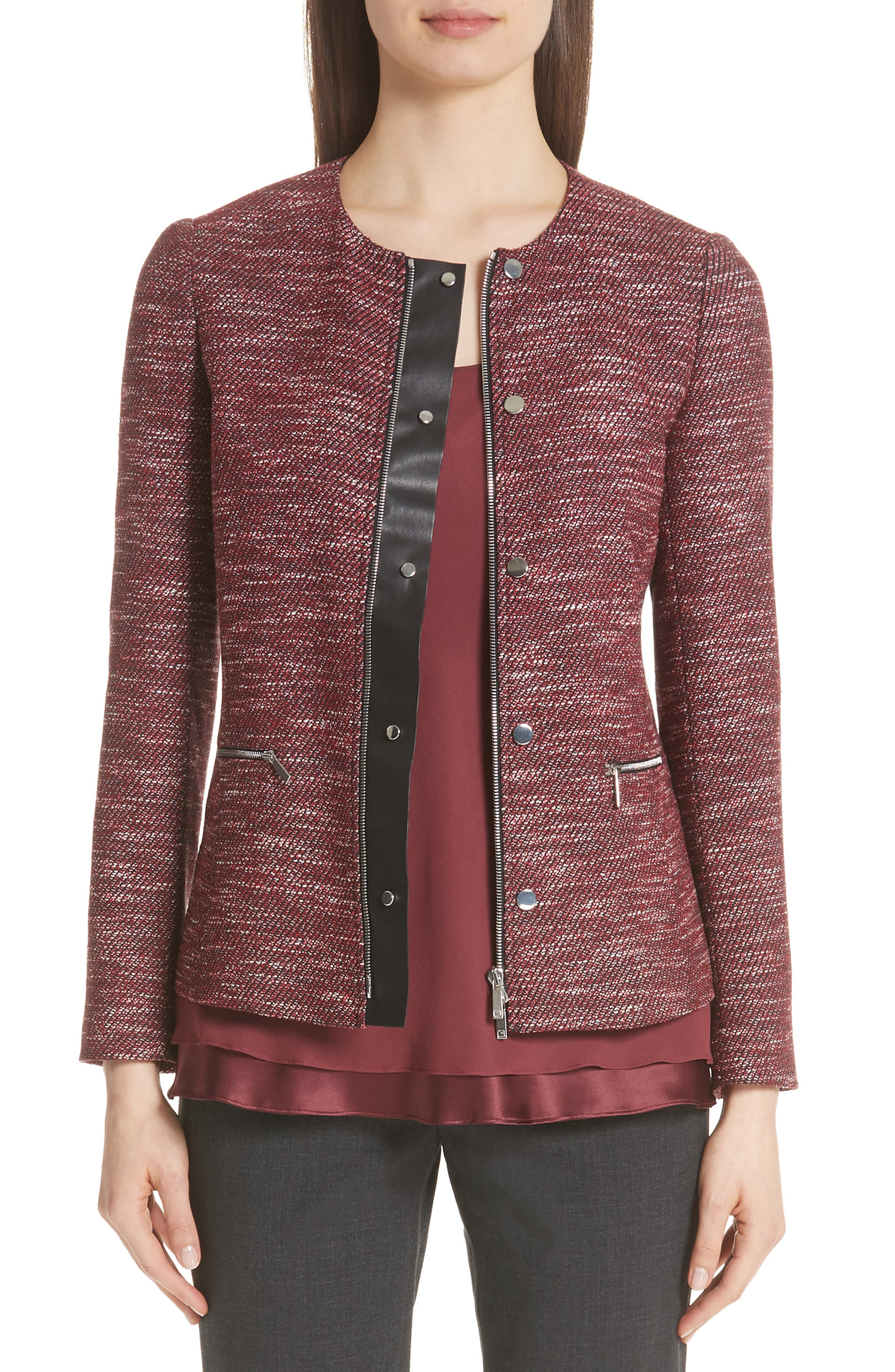 LAFAYETTE 148 NEW YORK Kerrington Wool Blend Jacket, Main, color, 930