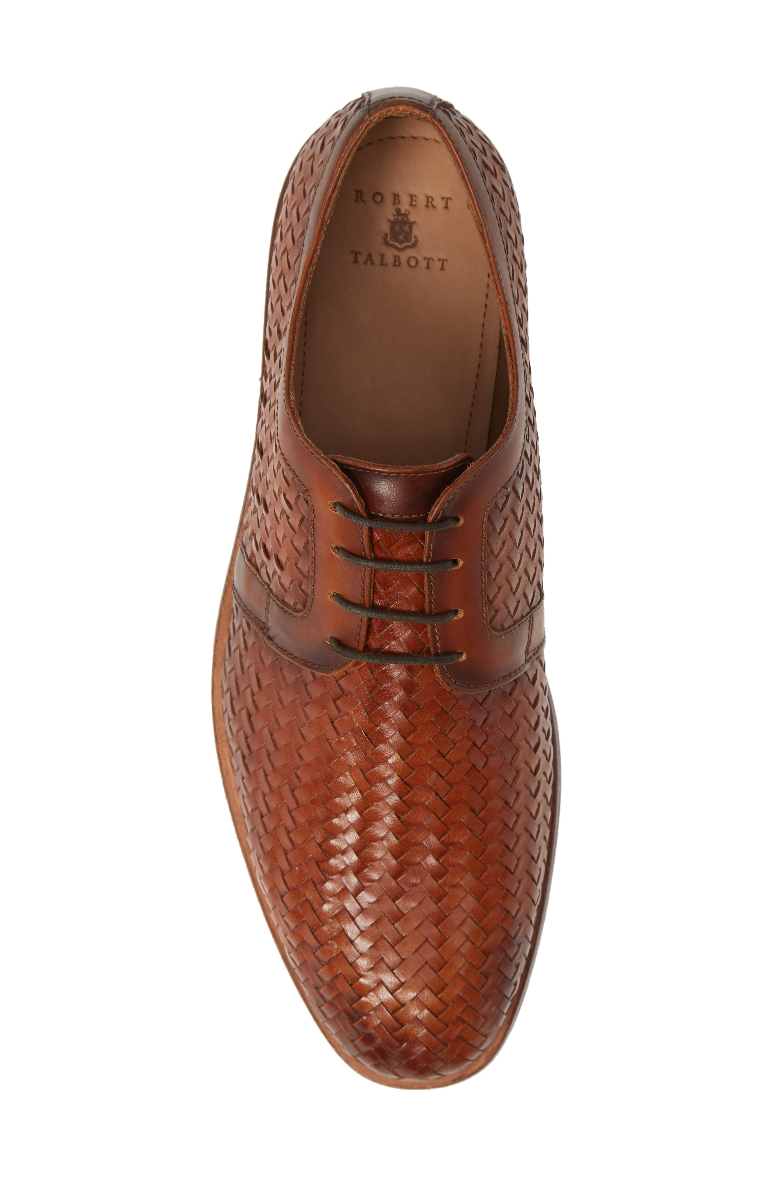 Bolinas True Woven Derby,                             Alternate thumbnail 5, color,                             COGNAC LEATHER