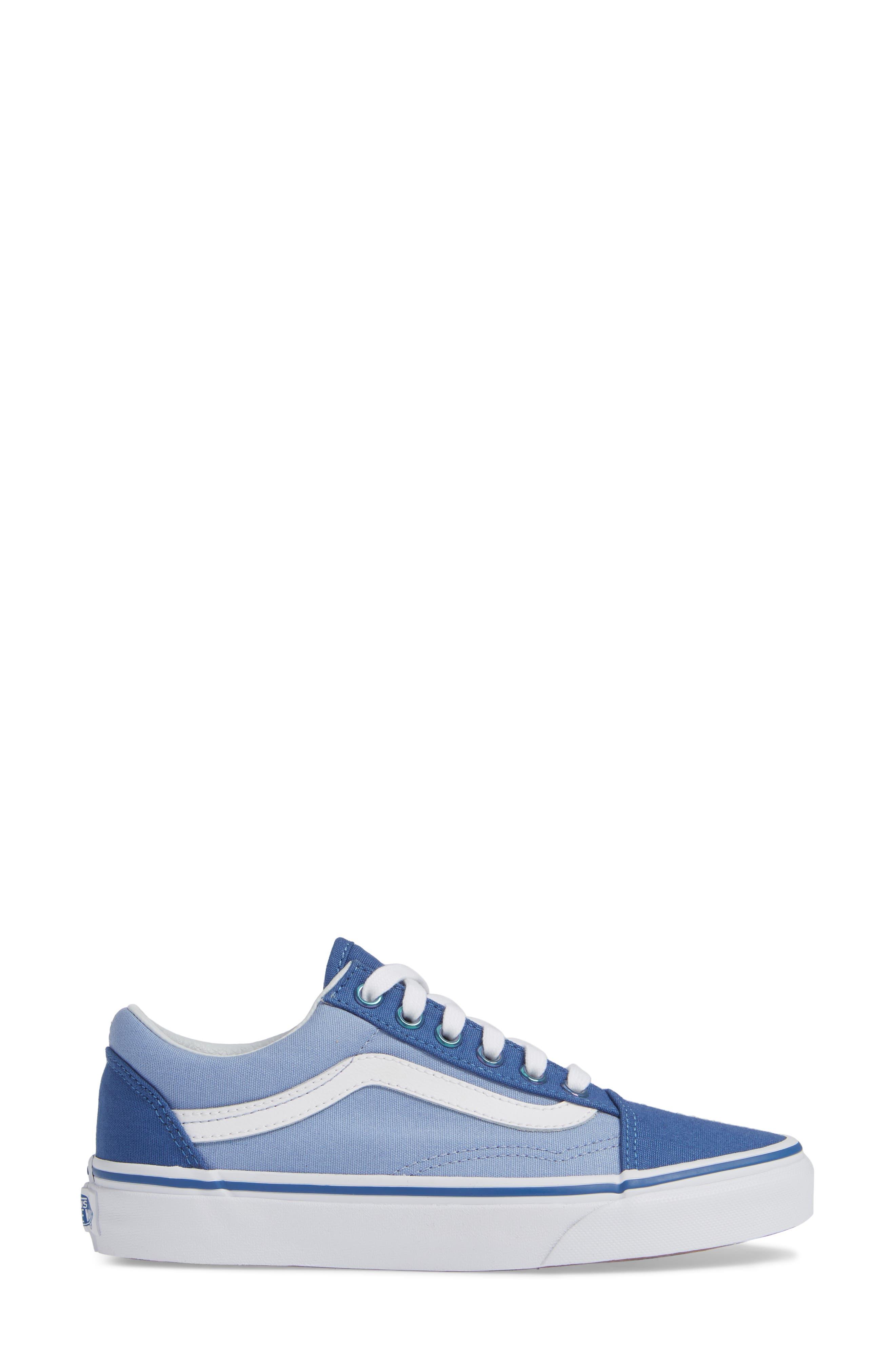 Old Skool Sneaker,                             Alternate thumbnail 3, color,                             FEDERAL BLUE/ LAVENDER LUSTER