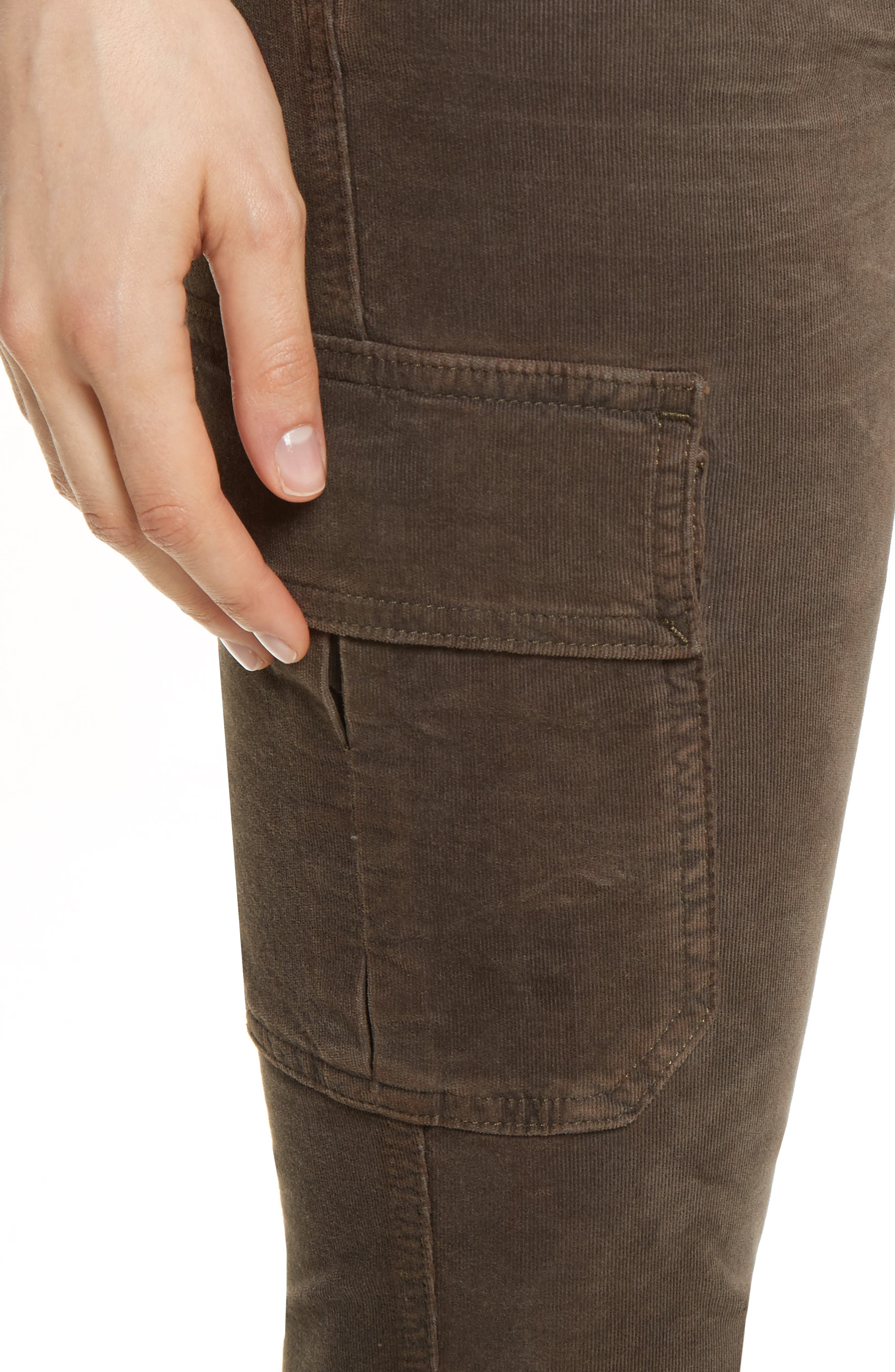 Skinny Corduroy Cargo Pants,                             Alternate thumbnail 8, color,