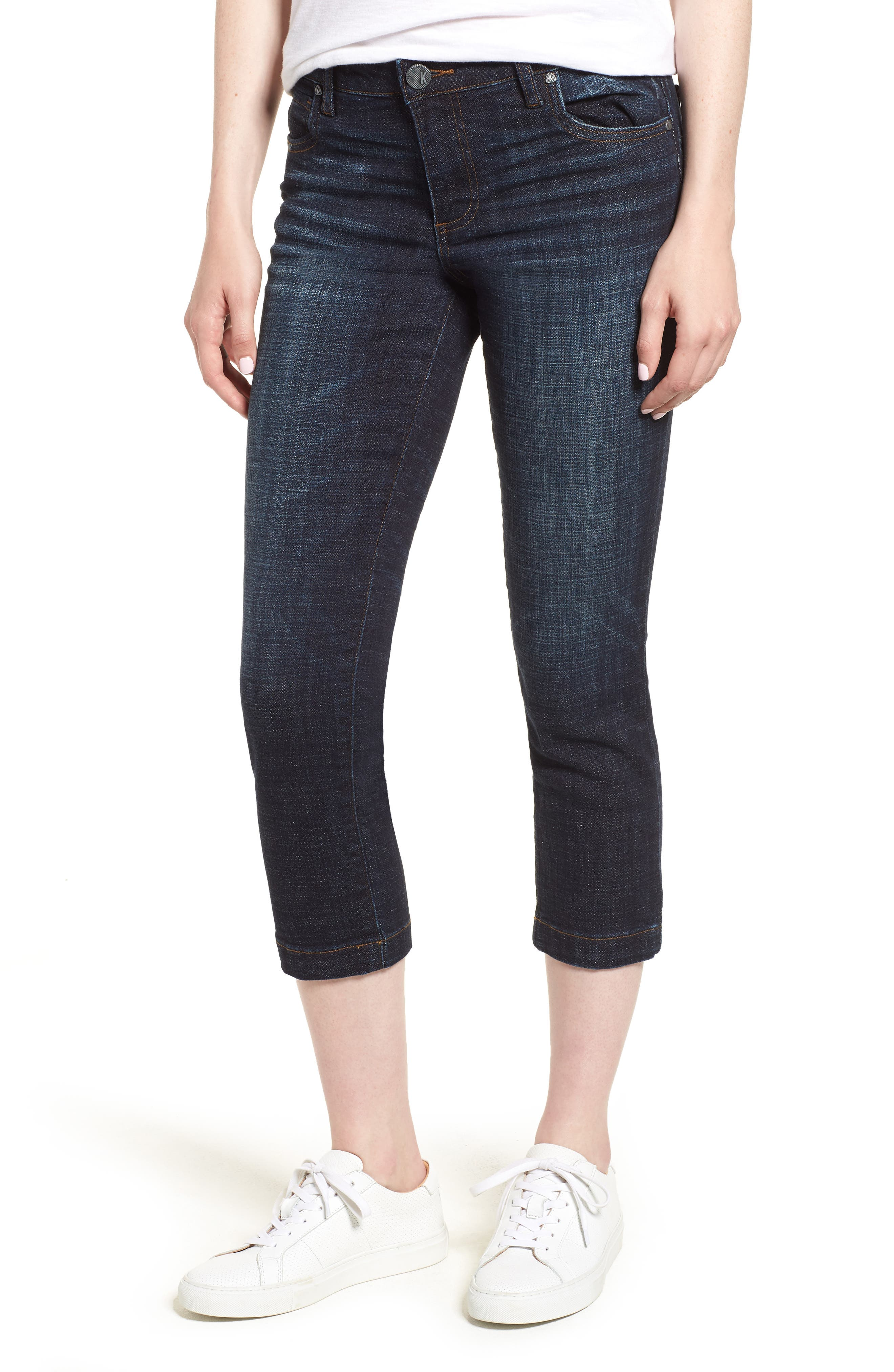 KUT from the Kloth Lauren Crop Straight Leg Jeans,                             Main thumbnail 1, color,                             440