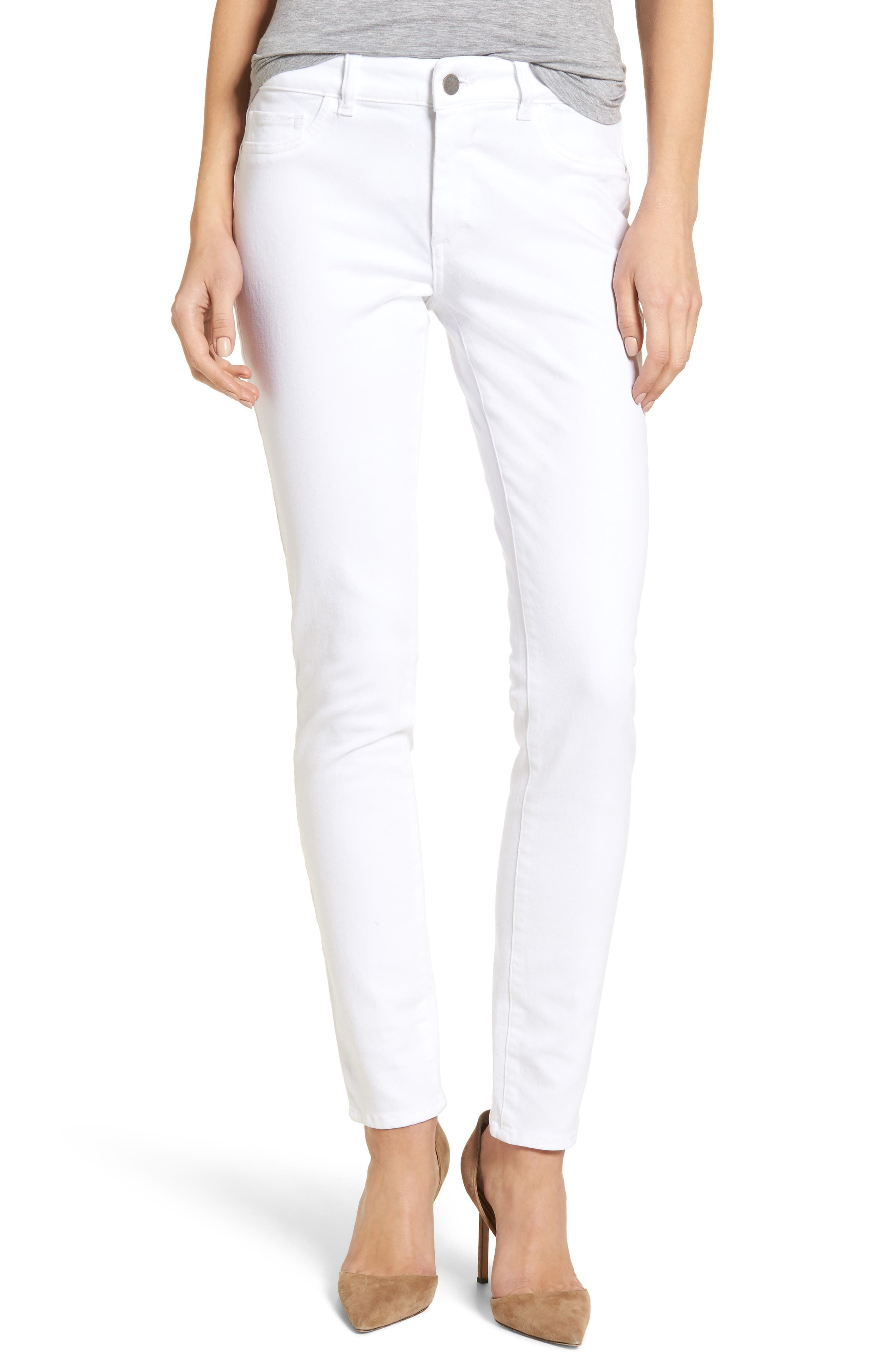 Florence Skinny Jeans,                         Main,                         color, 100