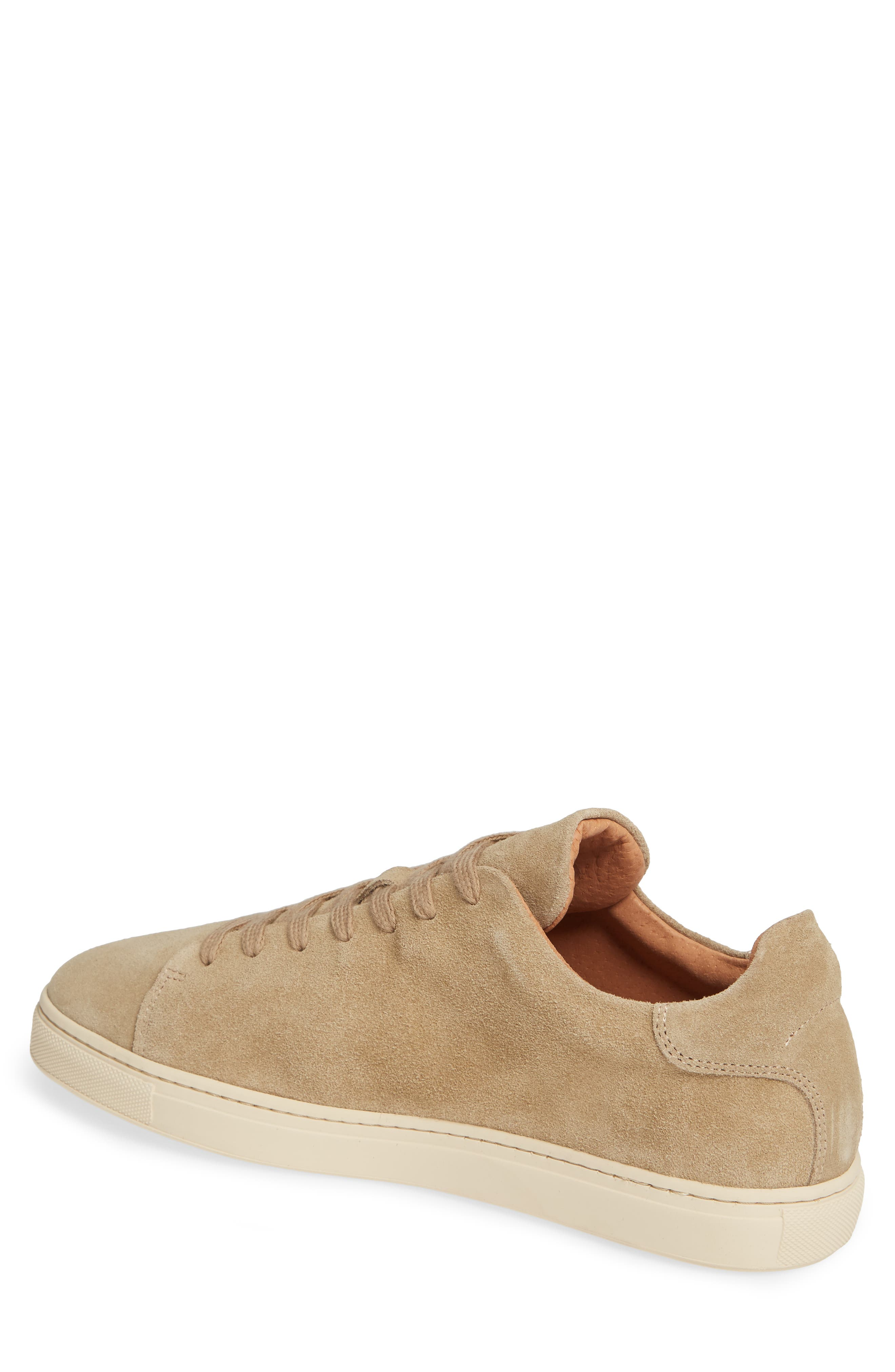 Selected Home David Low Top Sneaker,                             Alternate thumbnail 2, color,                             SAND SUEDE