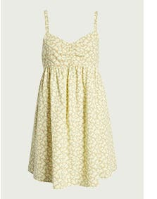 A yellow babydoll dress.