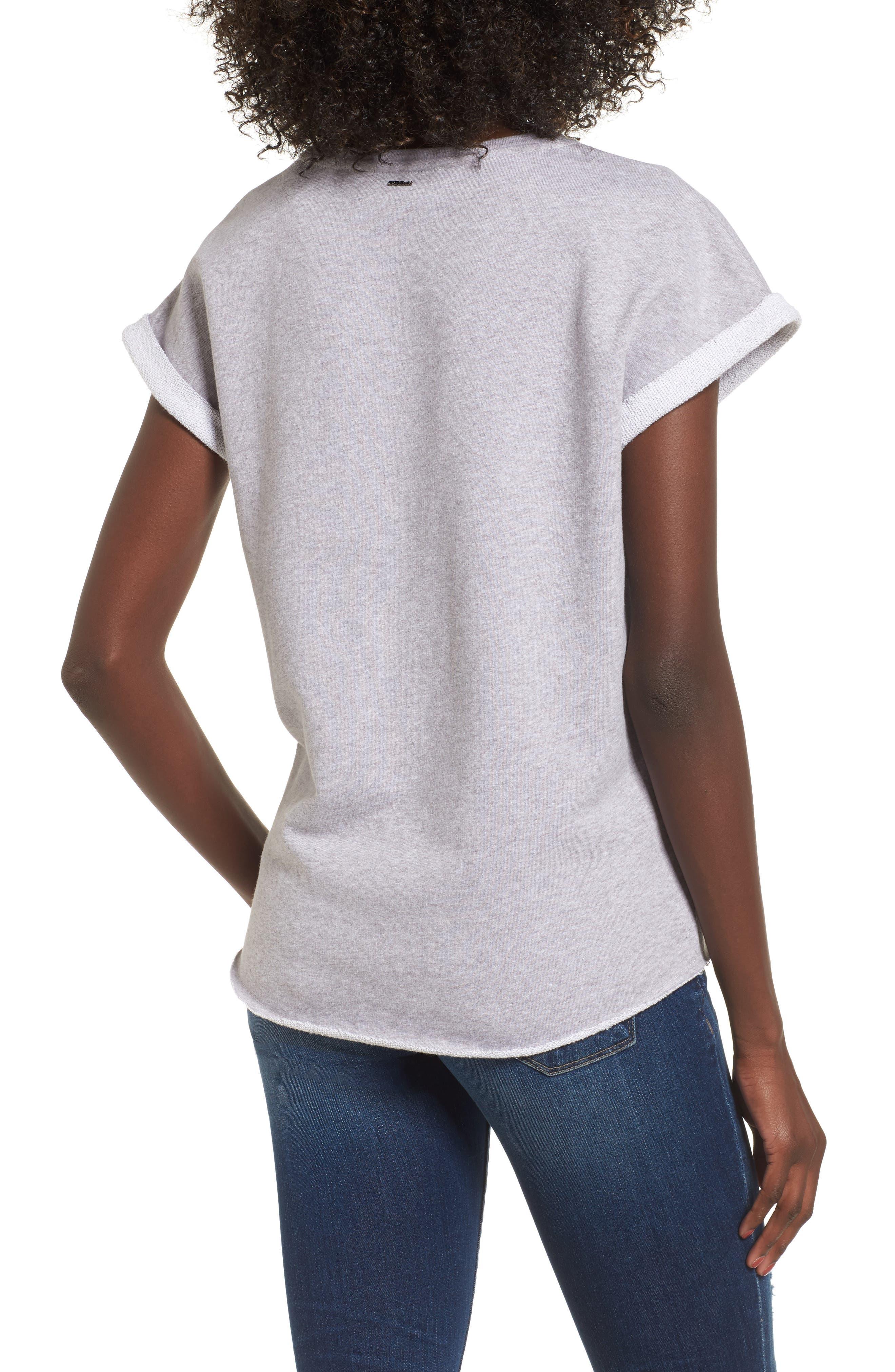 Tear Cutoff Sweatshirt,                             Alternate thumbnail 2, color,                             020