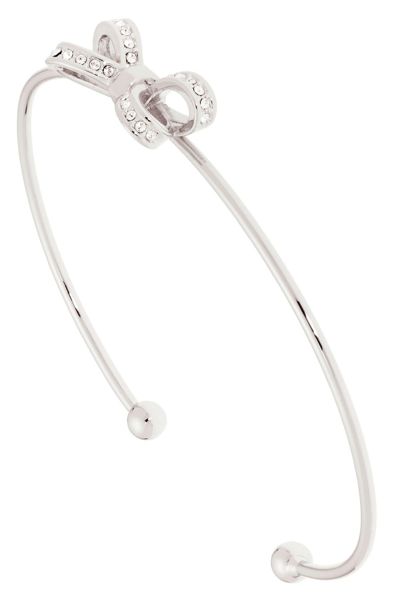 Mini Opulent Pavé Bow Cuff Bracelet,                             Alternate thumbnail 2, color,                             041