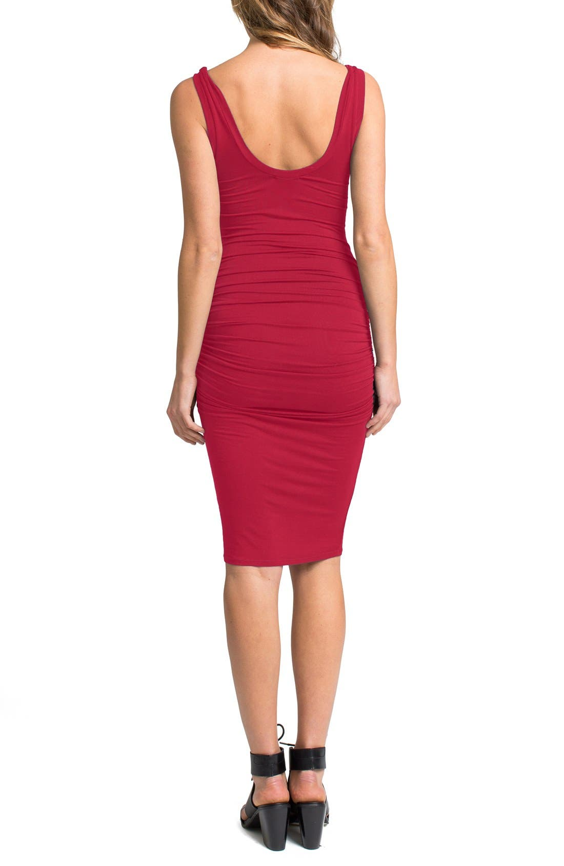 'Frankie' Ruched Tank Dress,                             Alternate thumbnail 15, color,