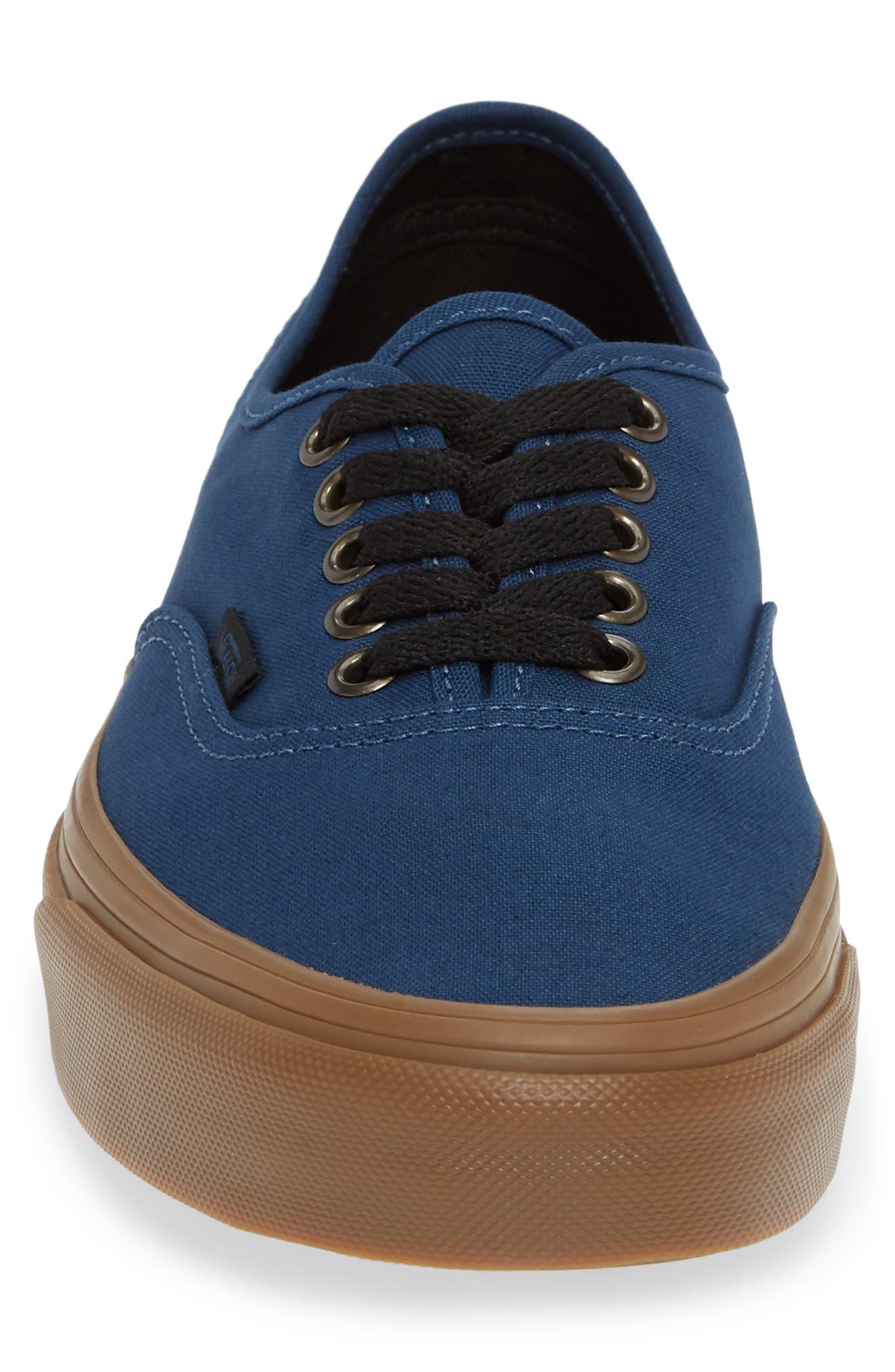 VANS,                             Authentic Gum Outsole Sneaker,                             Alternate thumbnail 4, color,                             401