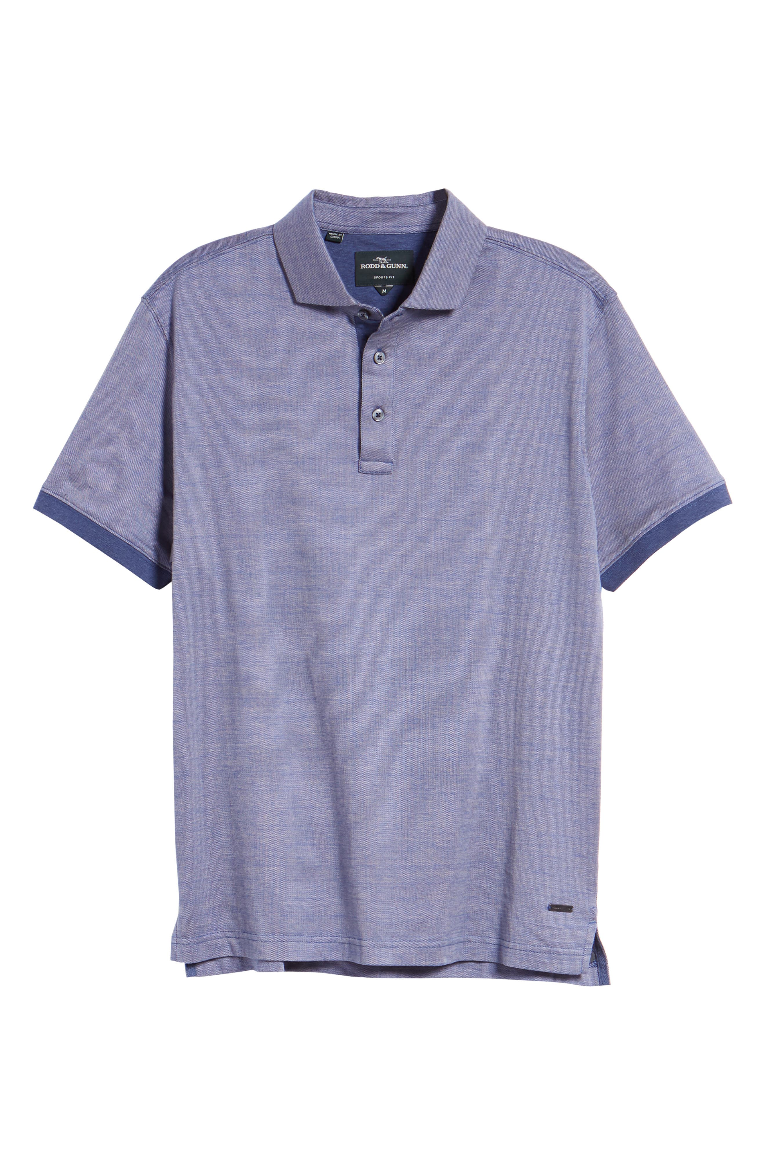 Stony Bay Sports Fit Polo,                             Alternate thumbnail 6, color,                             INDIGO