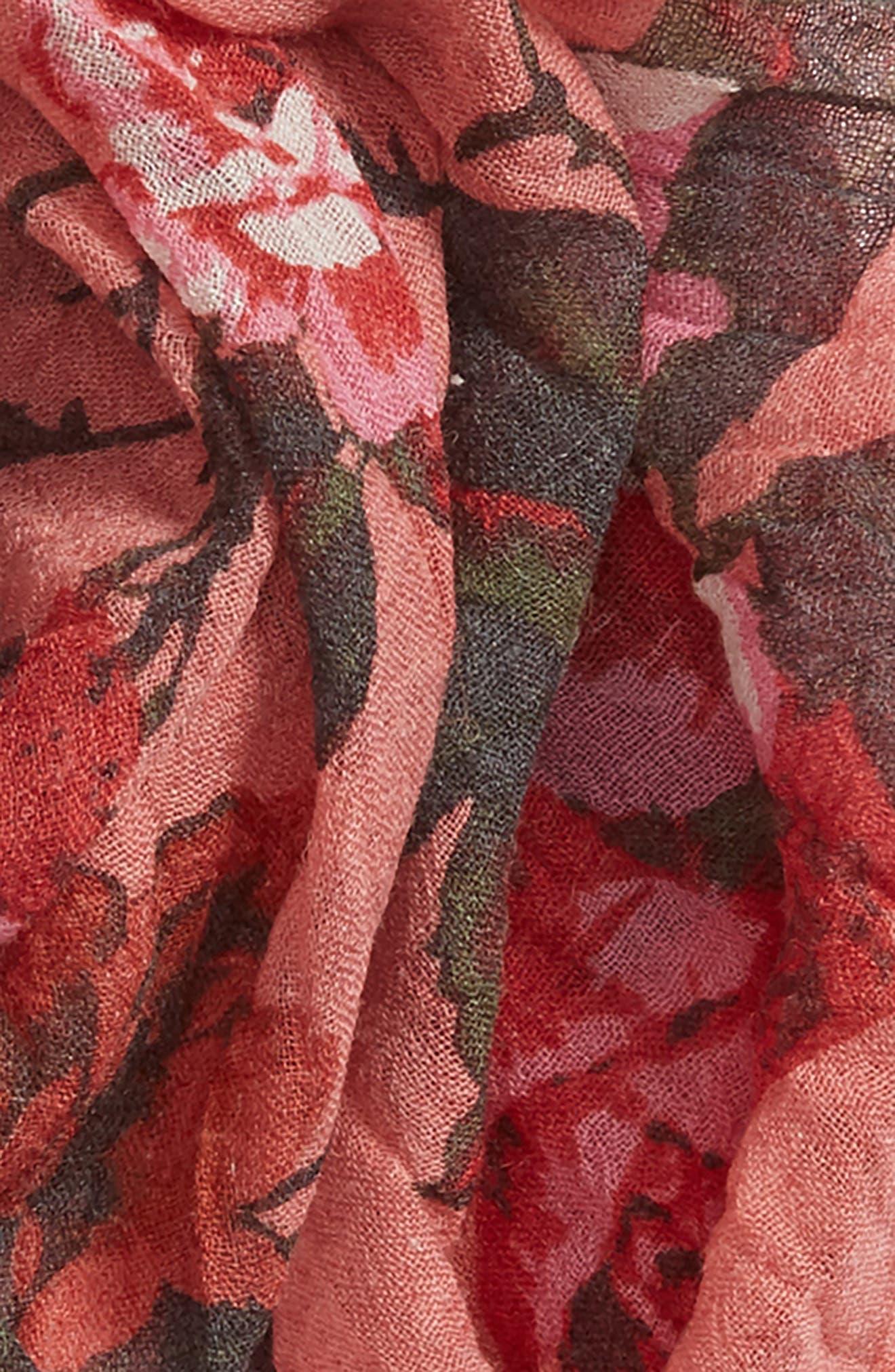 Floral Fringe Scarf,                             Alternate thumbnail 35, color,