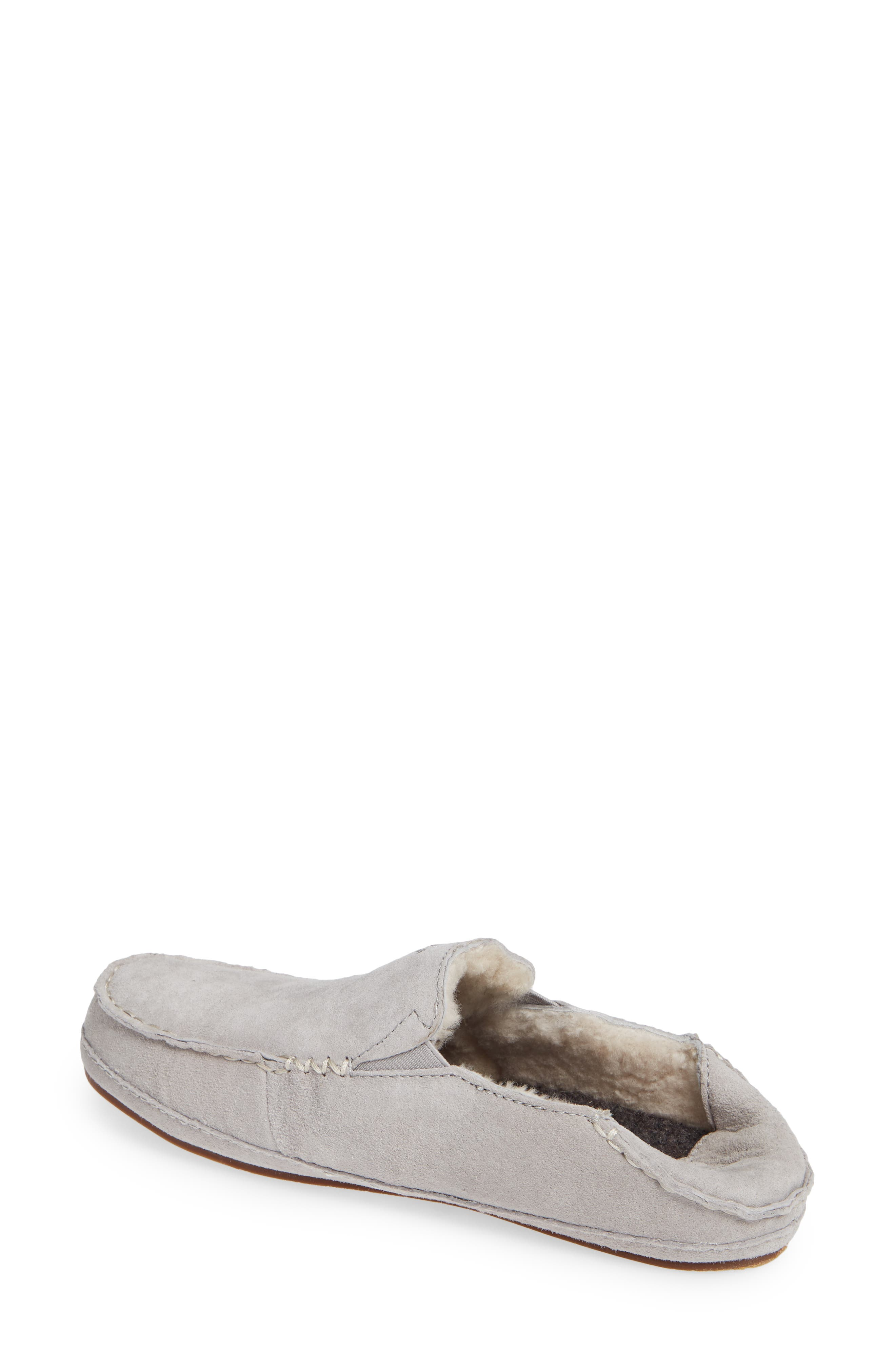 Nohea Nubuck Slipper,                             Alternate thumbnail 3, color,                             PALE GREY/ PALE GREY LEATHER